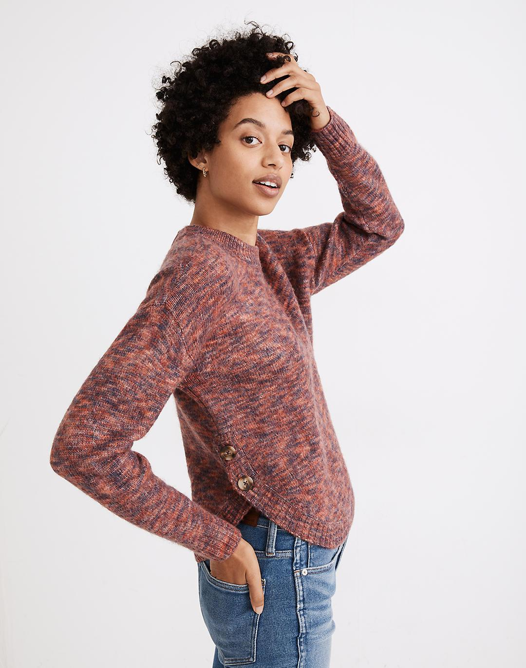Space-Dyed Birchmont Side-Button Pullover Sweater 0