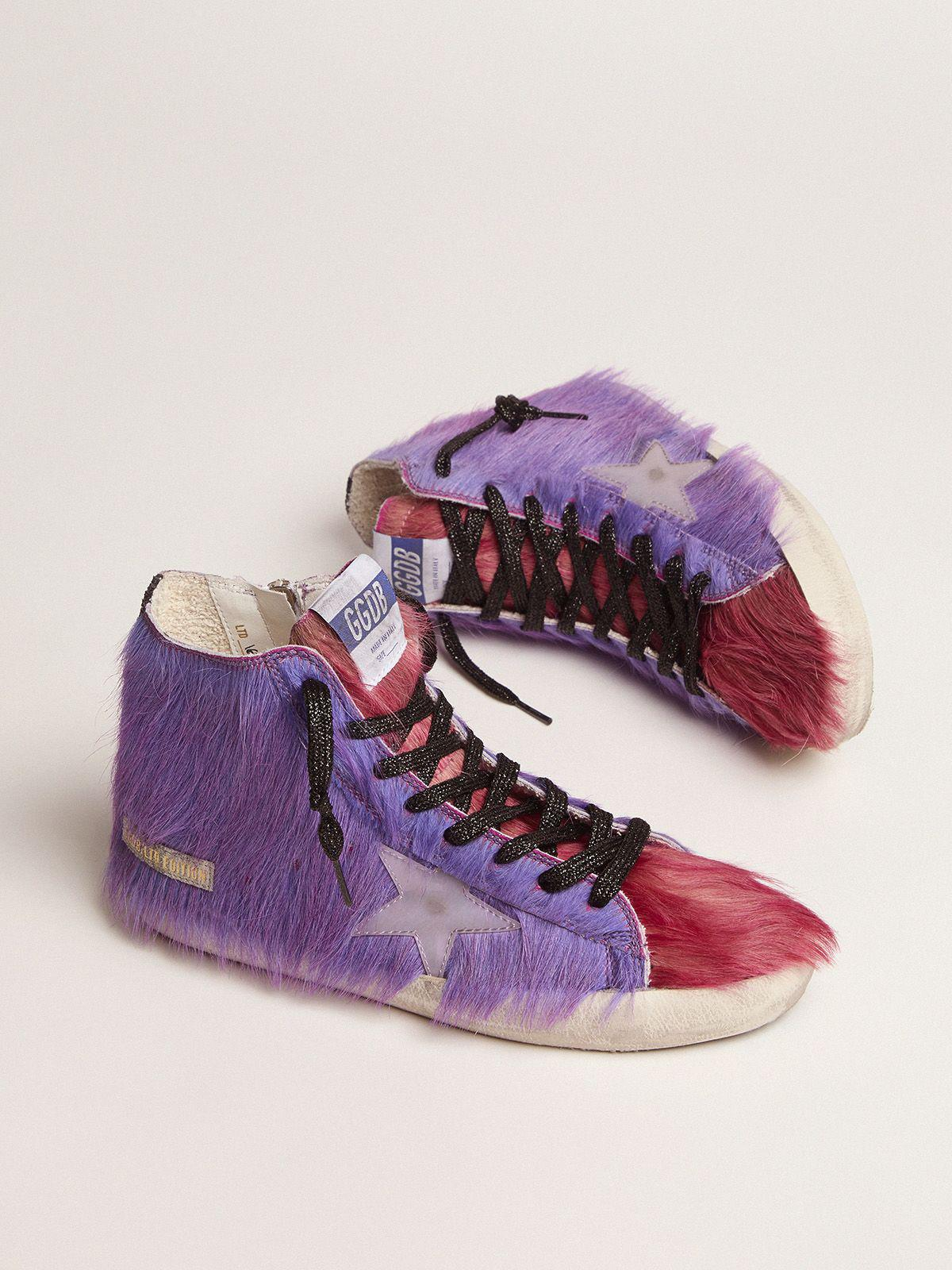 Women's Limited Edition lilac and pink pony skin Francy sneakers 1