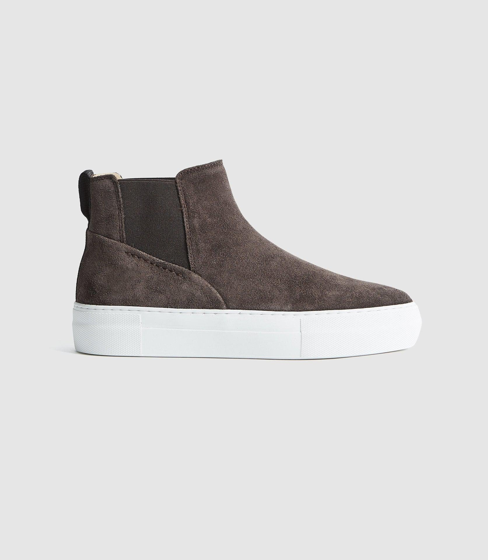 ALVIE - SUEDE SLIP ON HIGH TOP TRAINERS