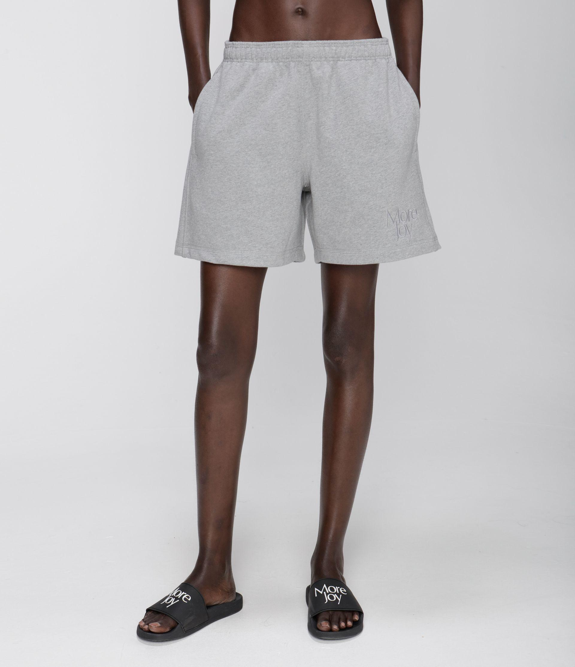 More Joy embroidered jersey shorts