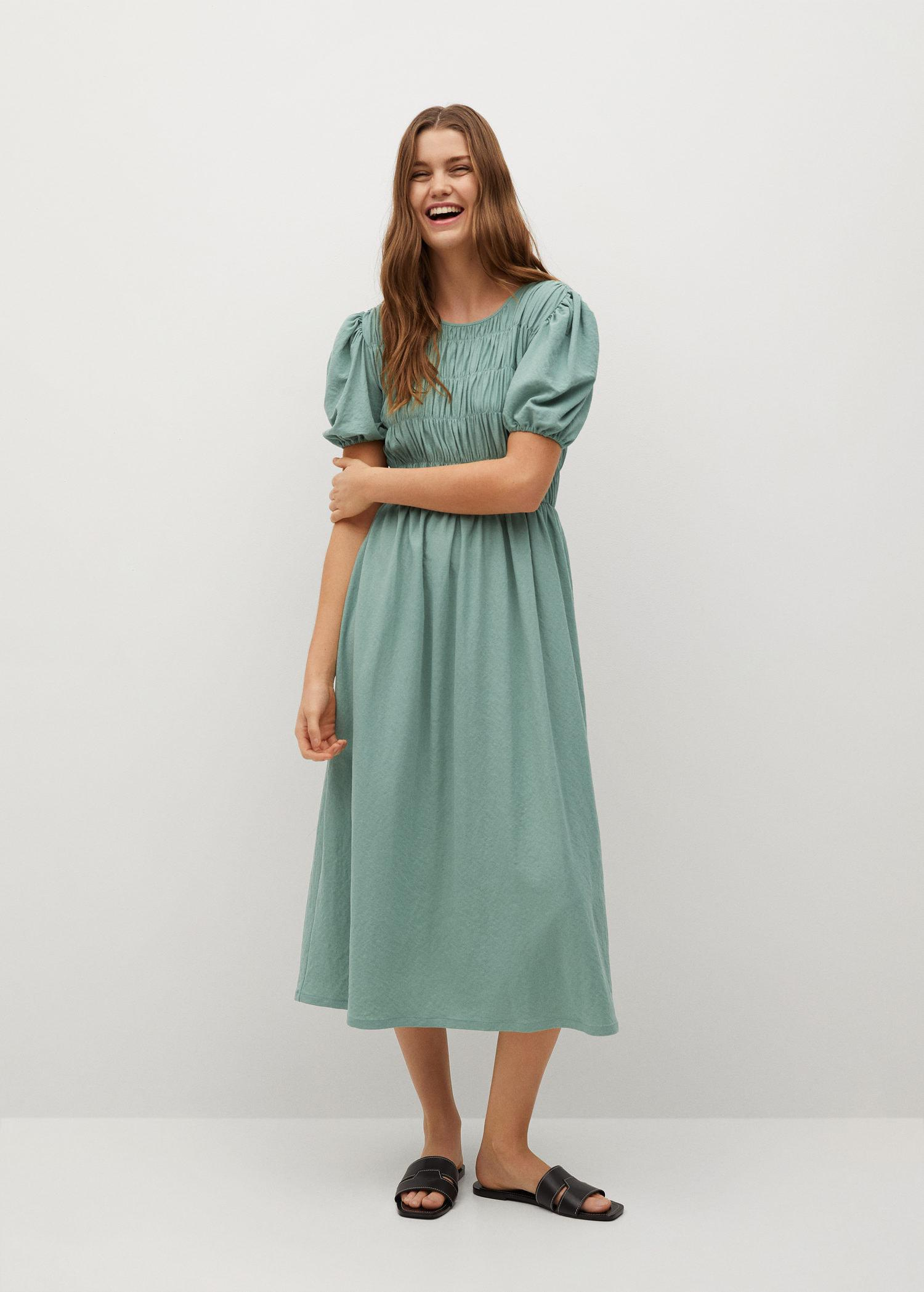 Ruched detail dress 1