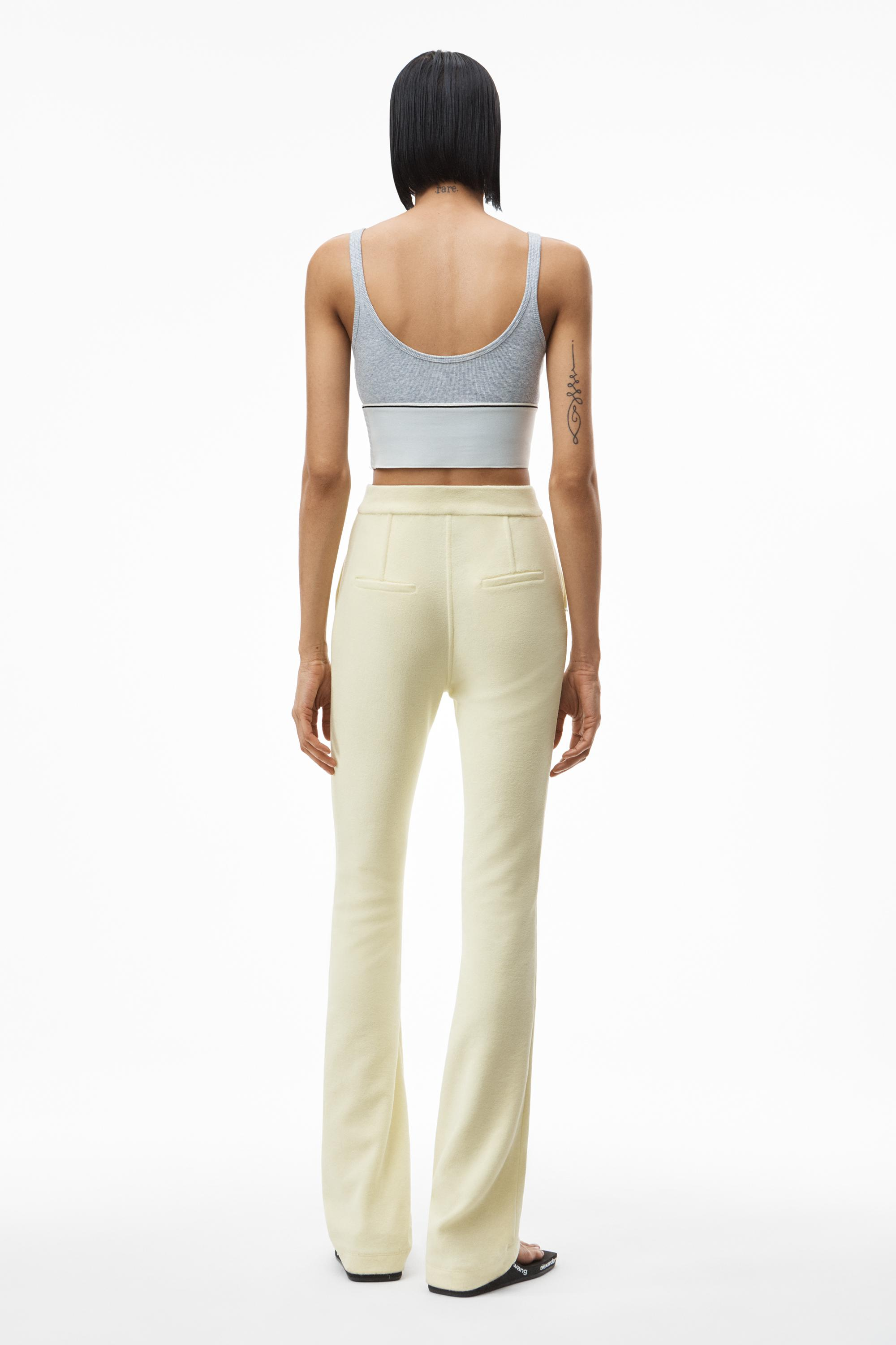 stacked pant in velour tailoring 3