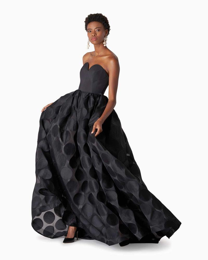 Polka Dot Fil Coupe Ball Gown