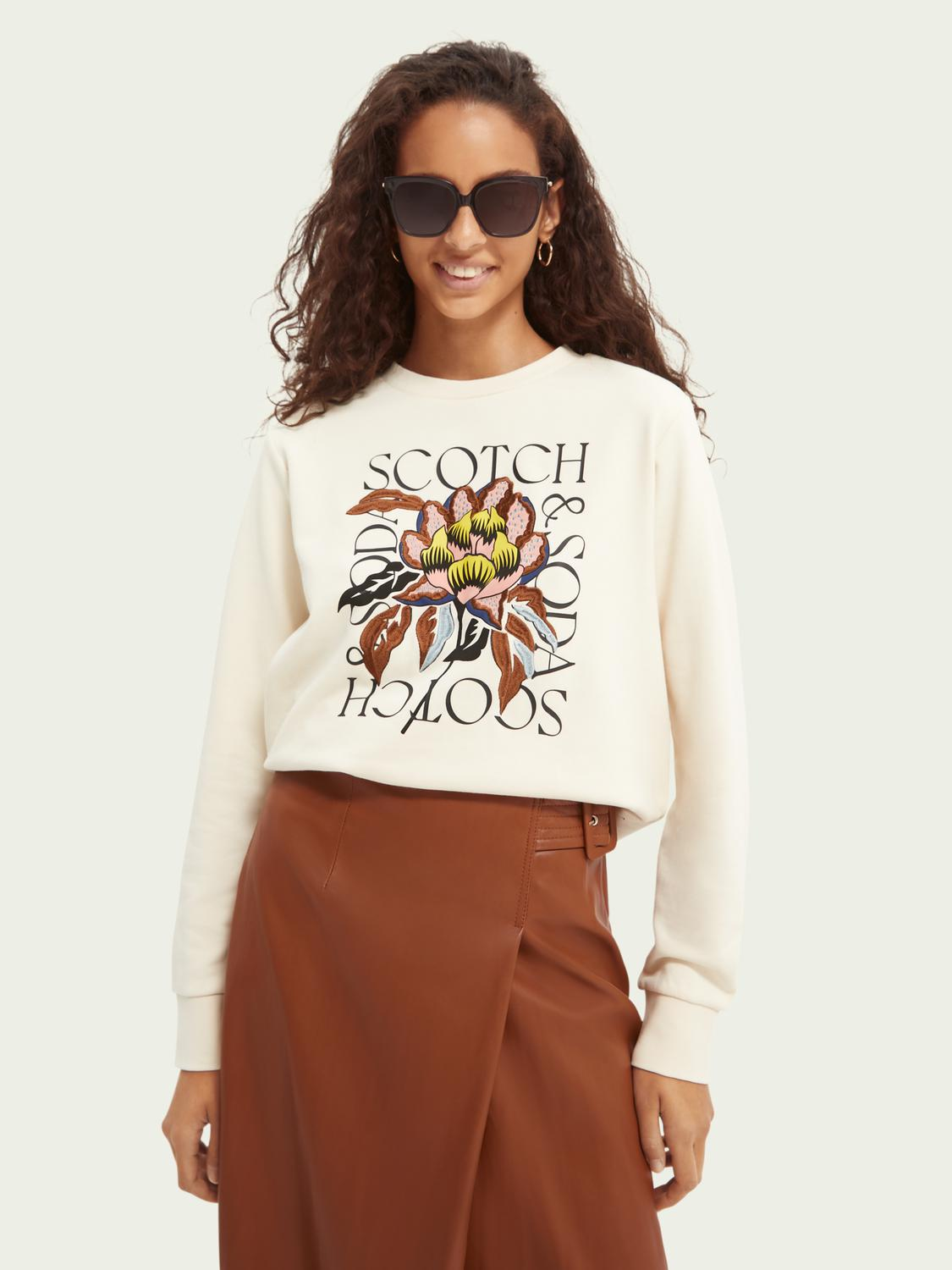 Regular-fit embroidered sweater