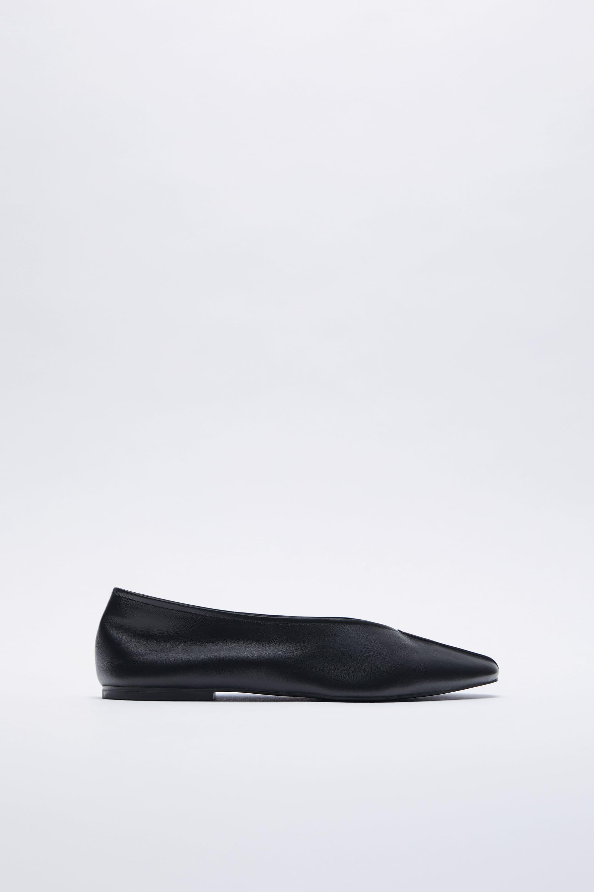 LEATHER BALLET FLATS 3