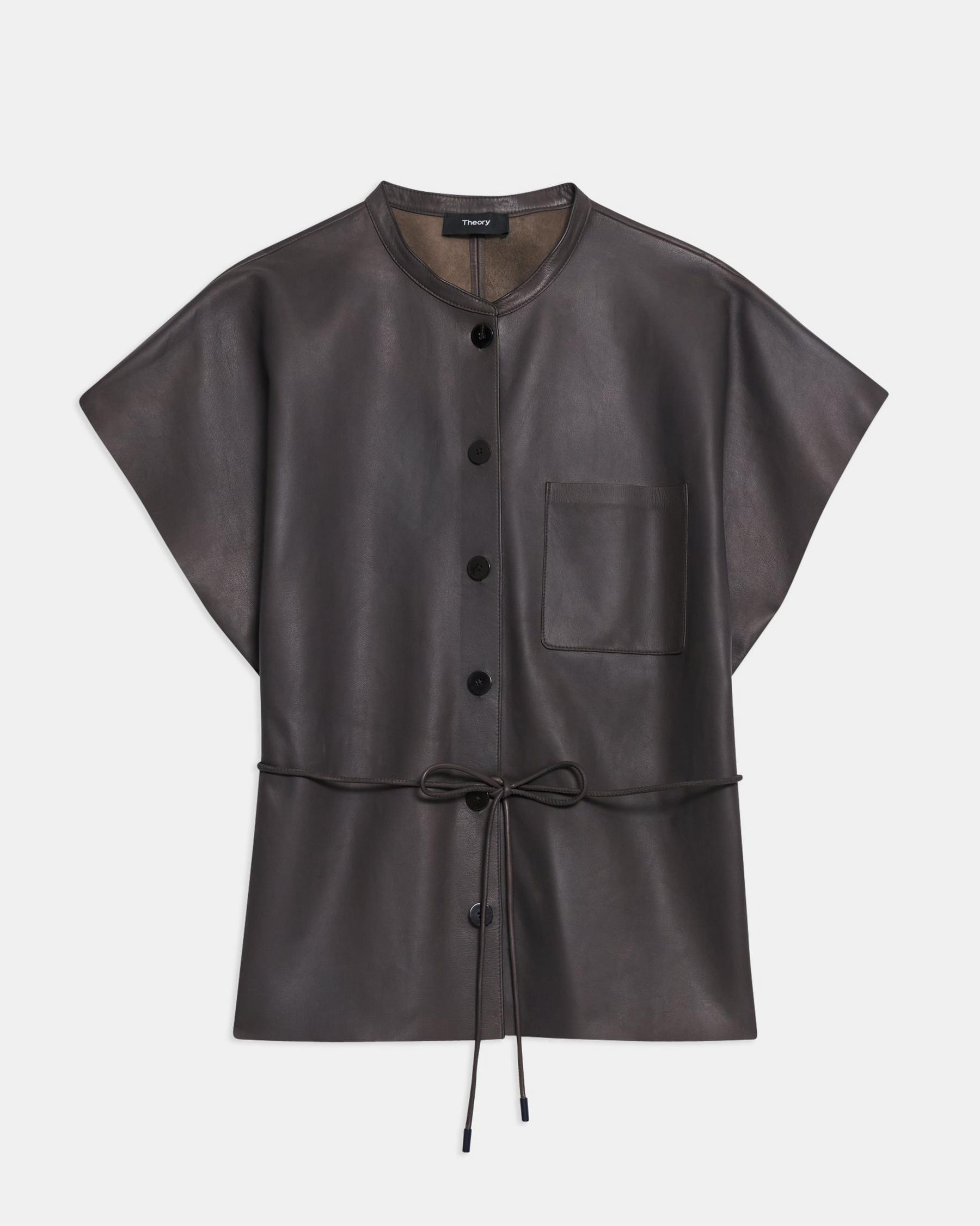 Triangle Shirt in Paper Faux Leather 5