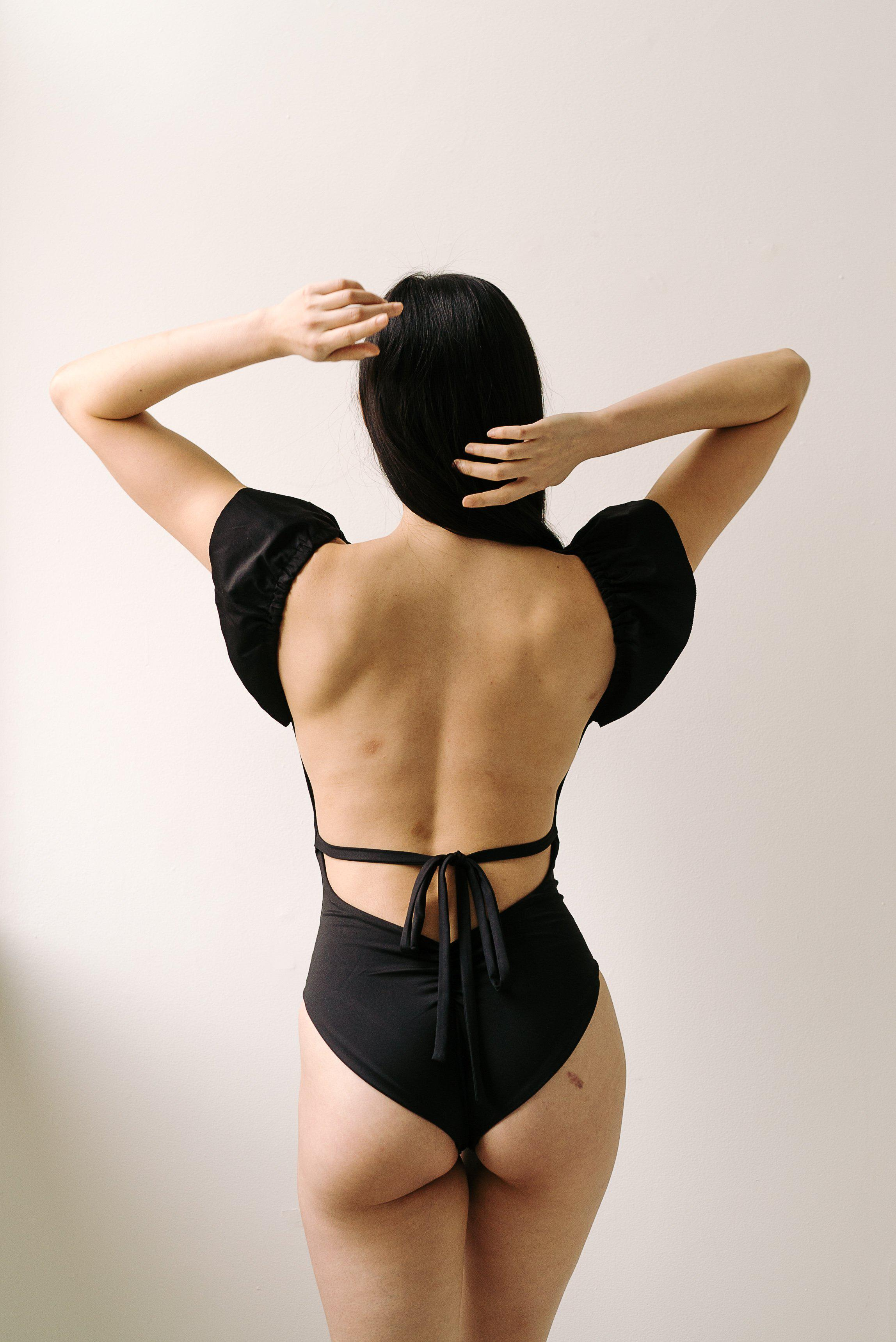 The Ruffle Shoulder One Piece