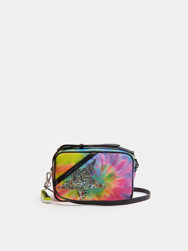Tie-dye Star Bag with star and crystals