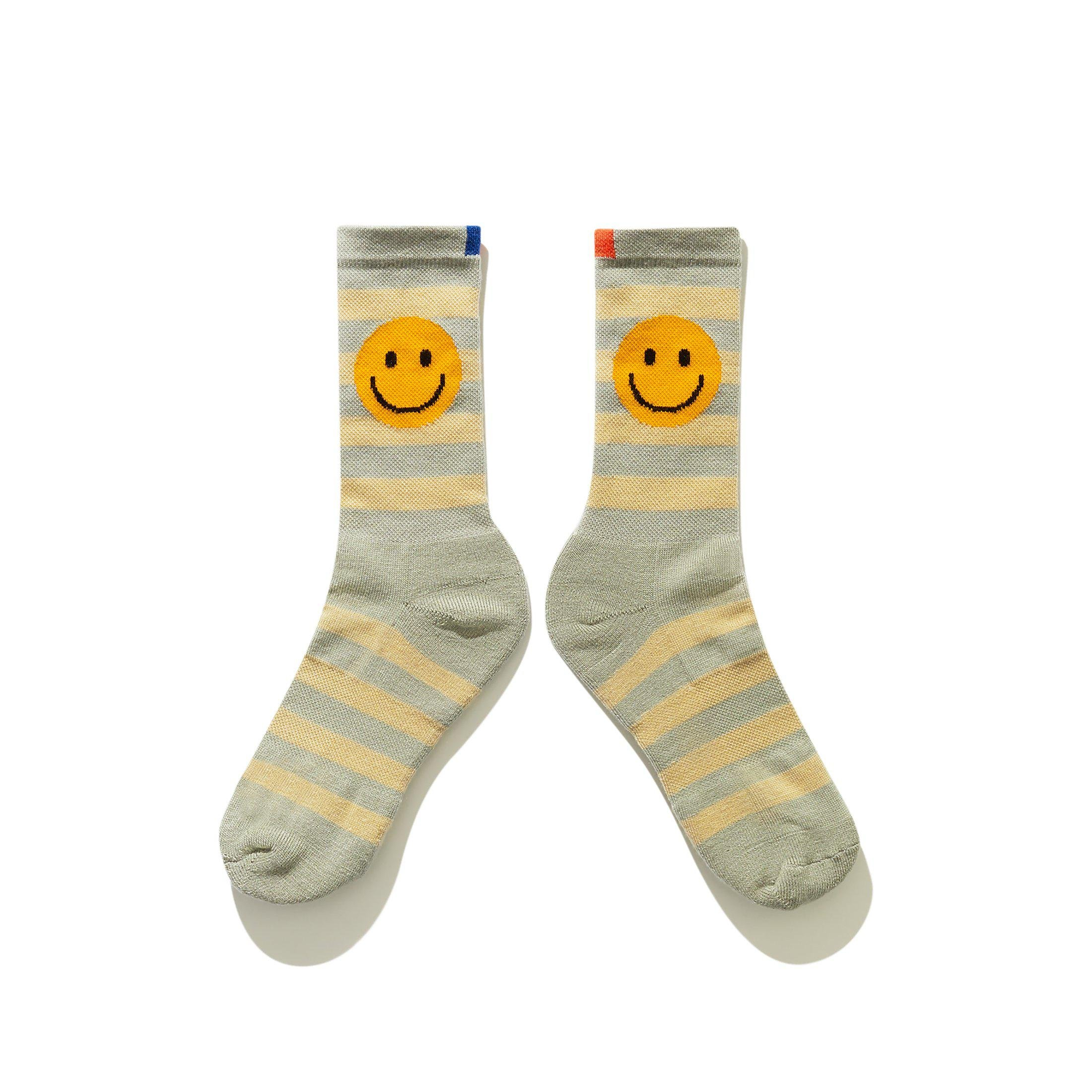 The Women's Rugby Smile Sock - Grey/Beige