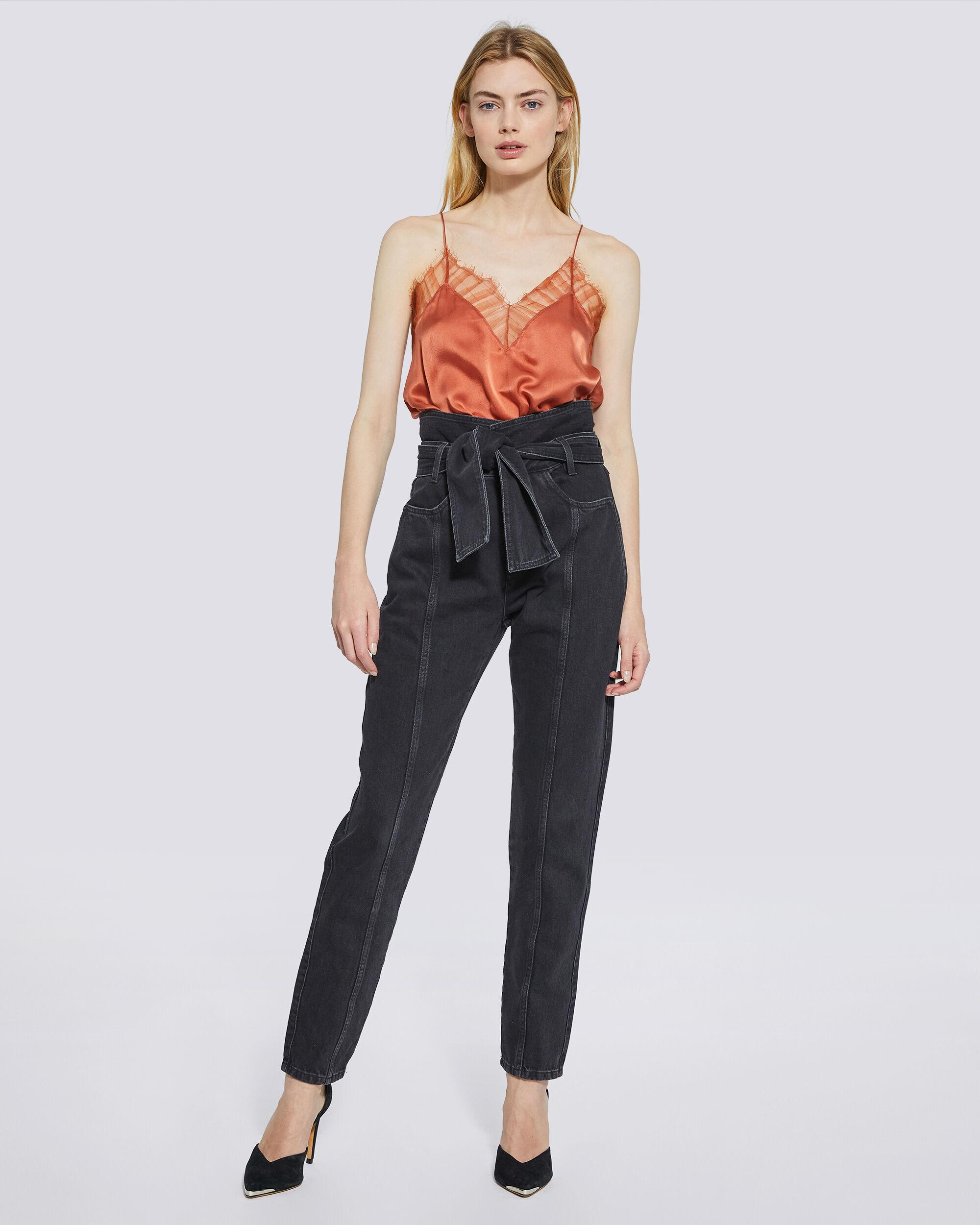 OUZILLY PAPERBAG HIGH WAIST JEANS