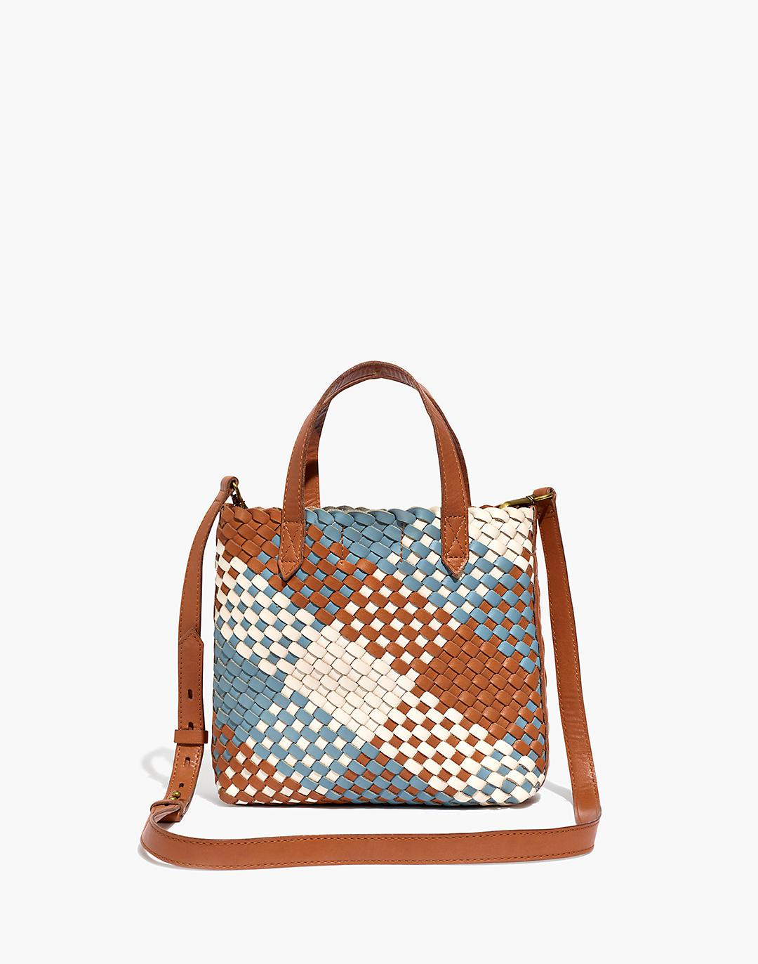 The Small Transport Crossbody: Multicolored Woven Leather Edition