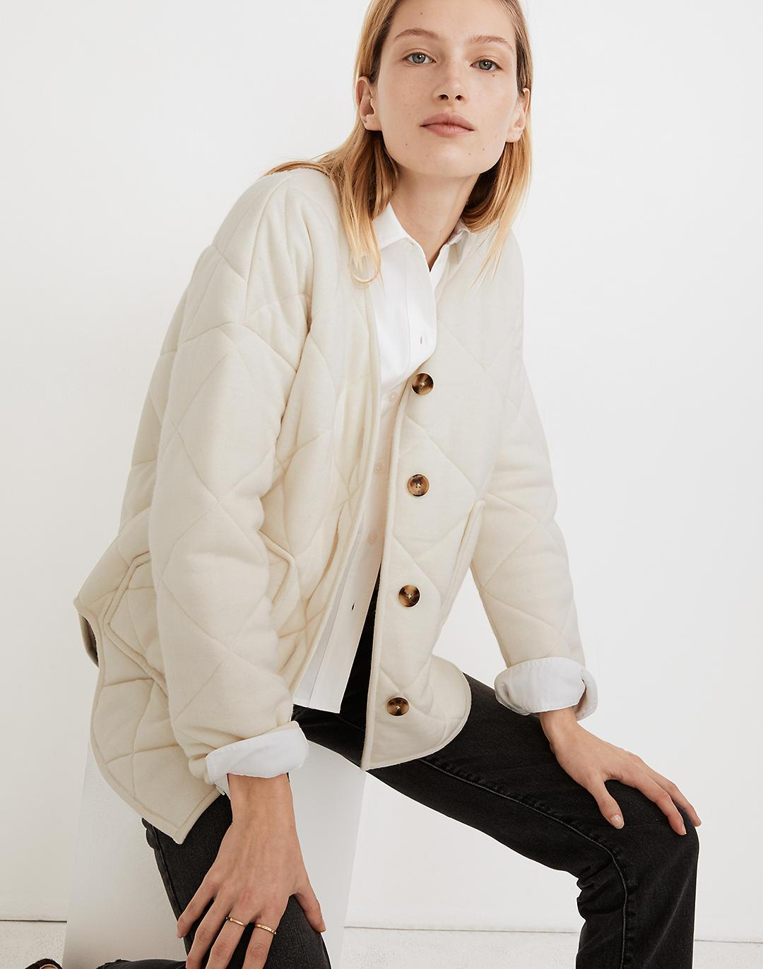 Quilted Sweater Jacket