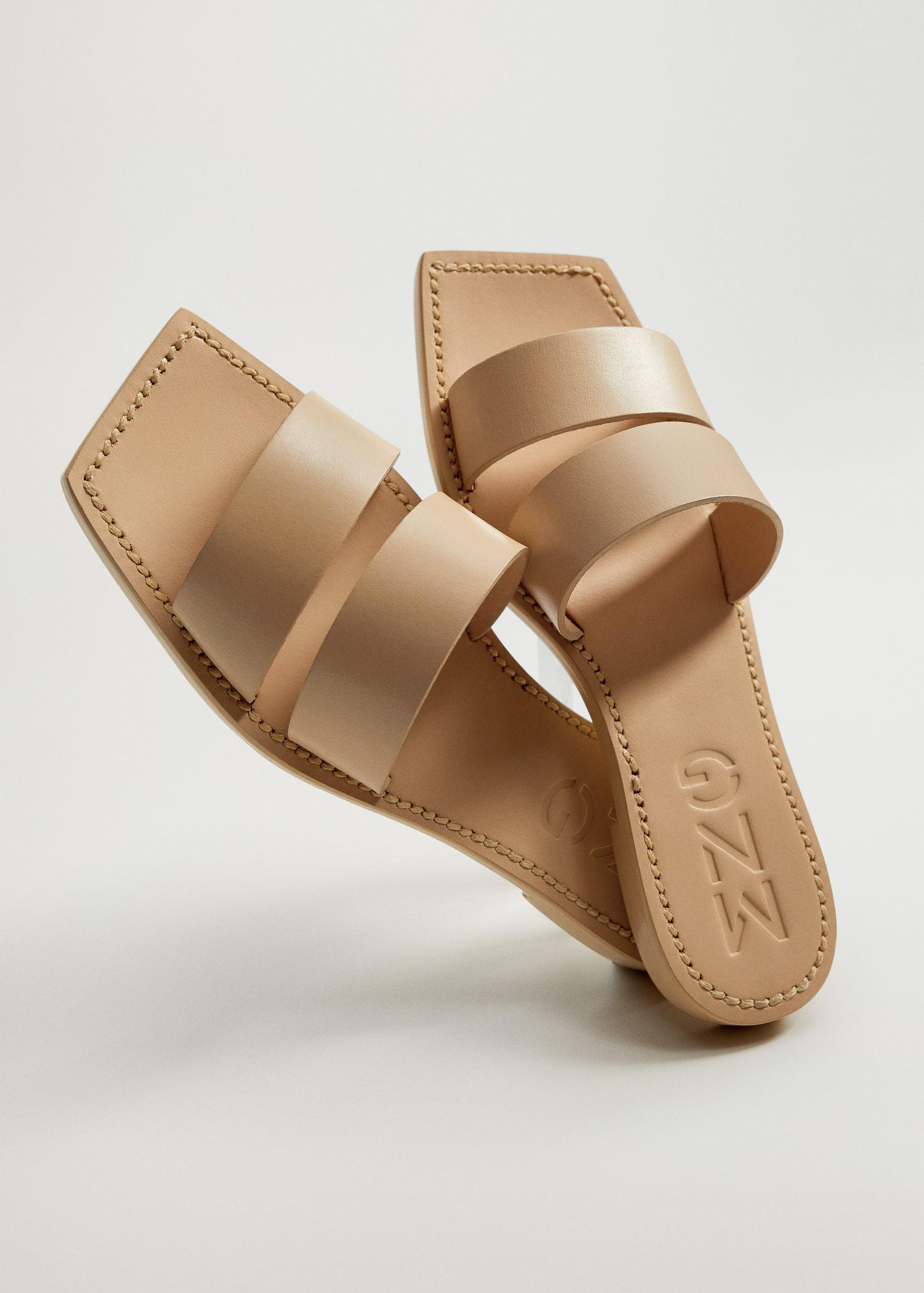 Leather straps sandals 1