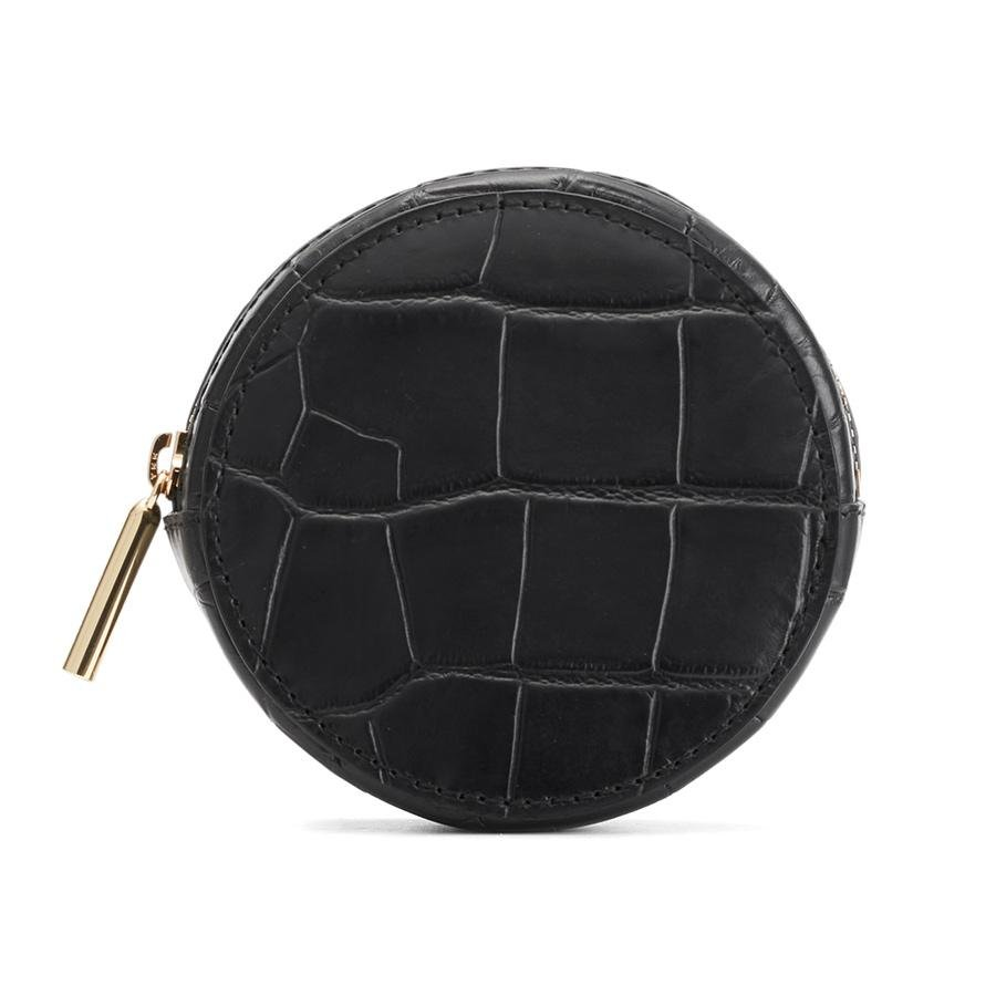 Women's Circle Pouch Add-On in Black | Croc-Embossed by Cuyana