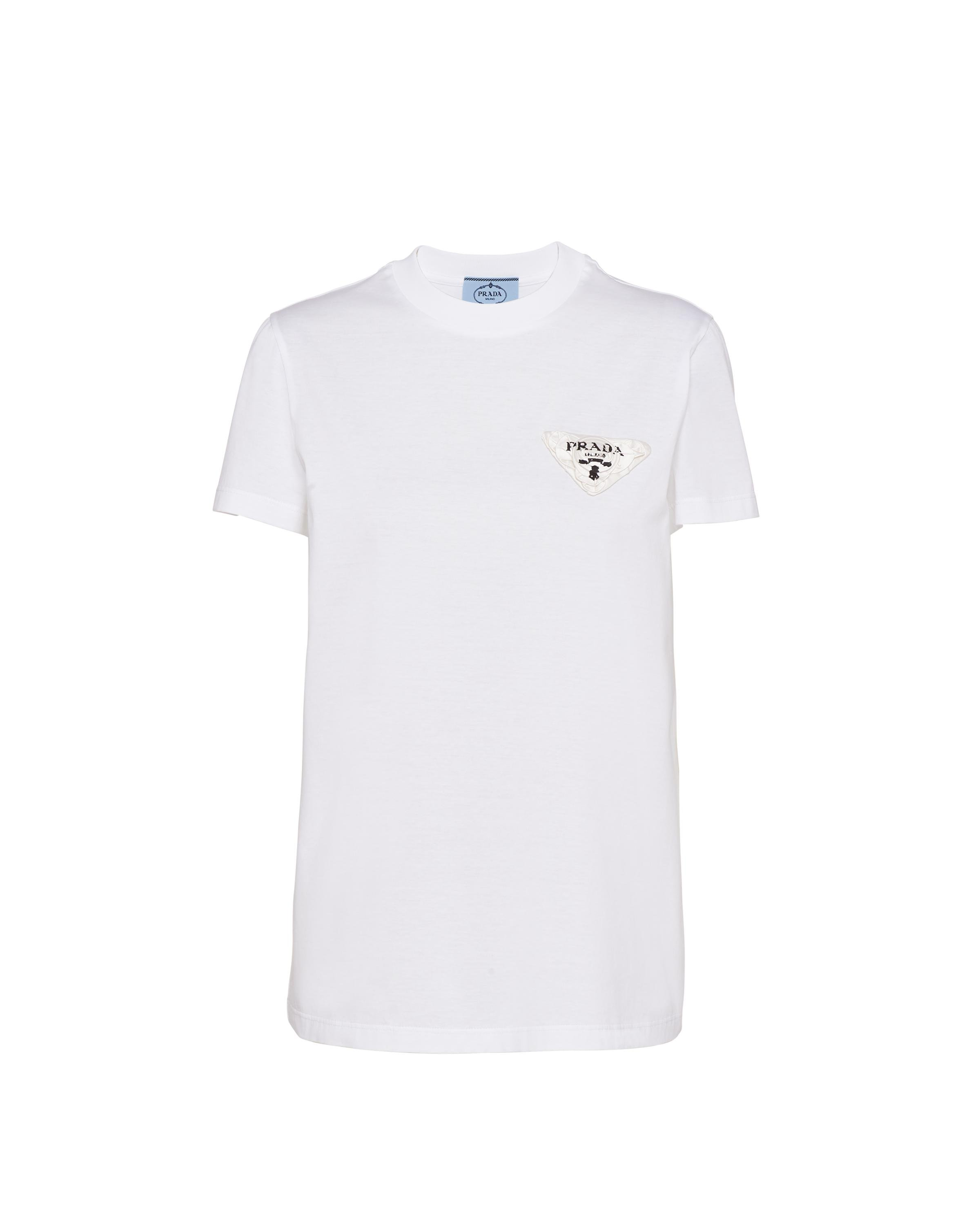 Embroidered Jersey T-shirt Women White/white