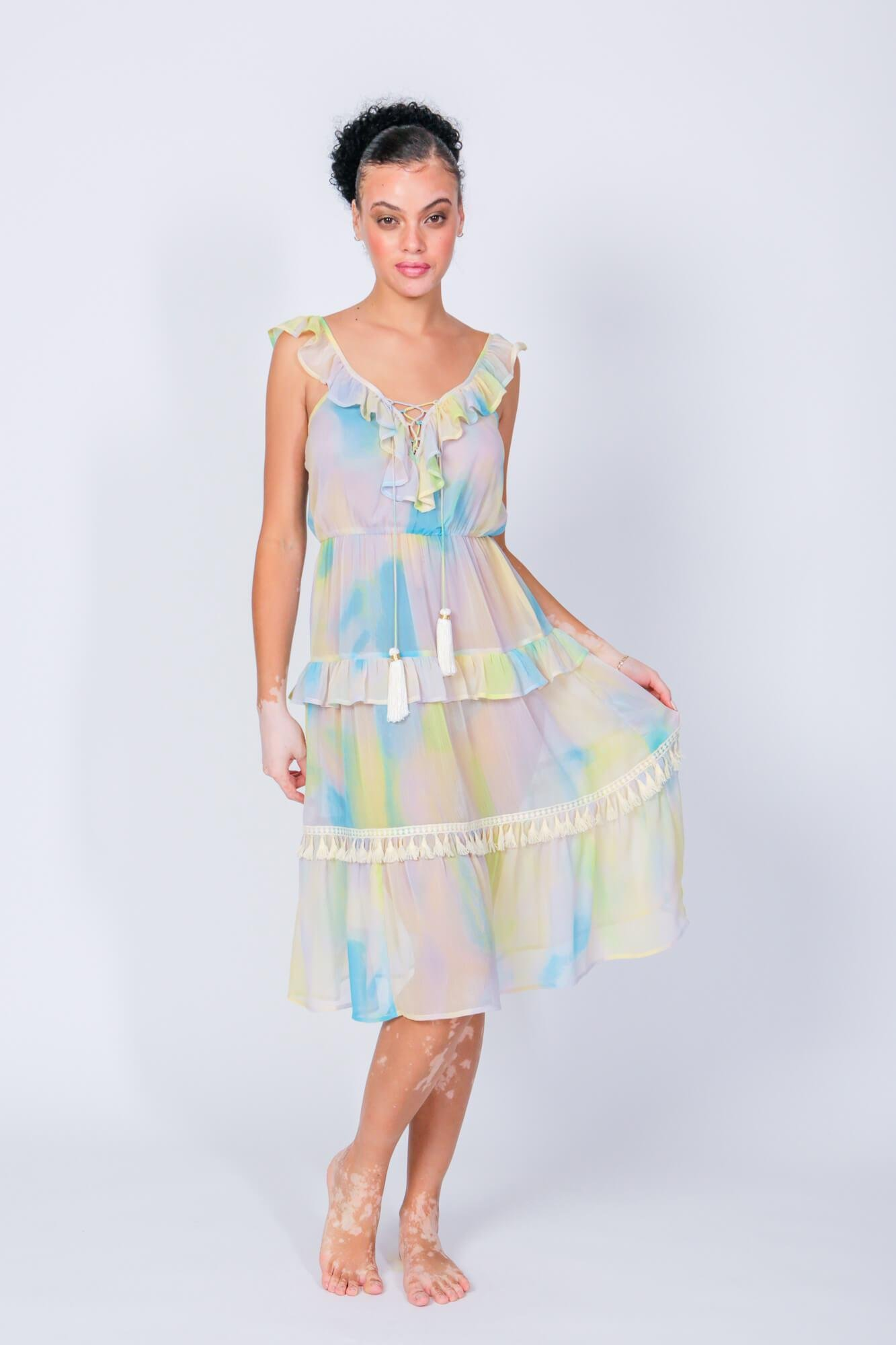 Tiered Lolly Cover Up Dress