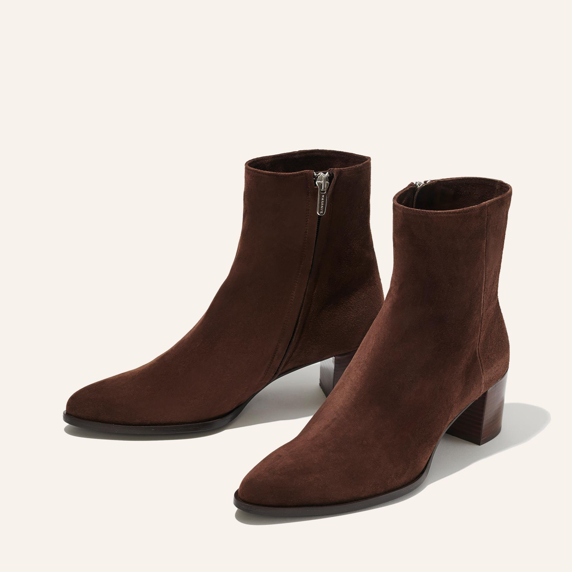 The Downtown Boot - Chocolate Suede 1