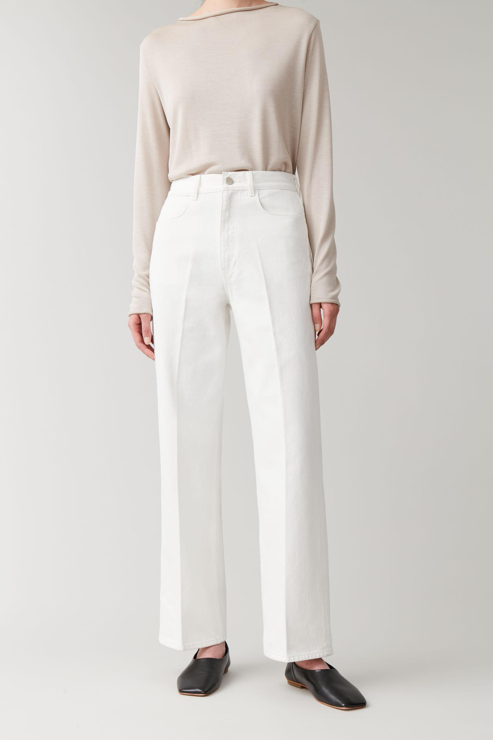 HIGH-WAISTED ORGANIC COTTON STRAIGHT JEANS
