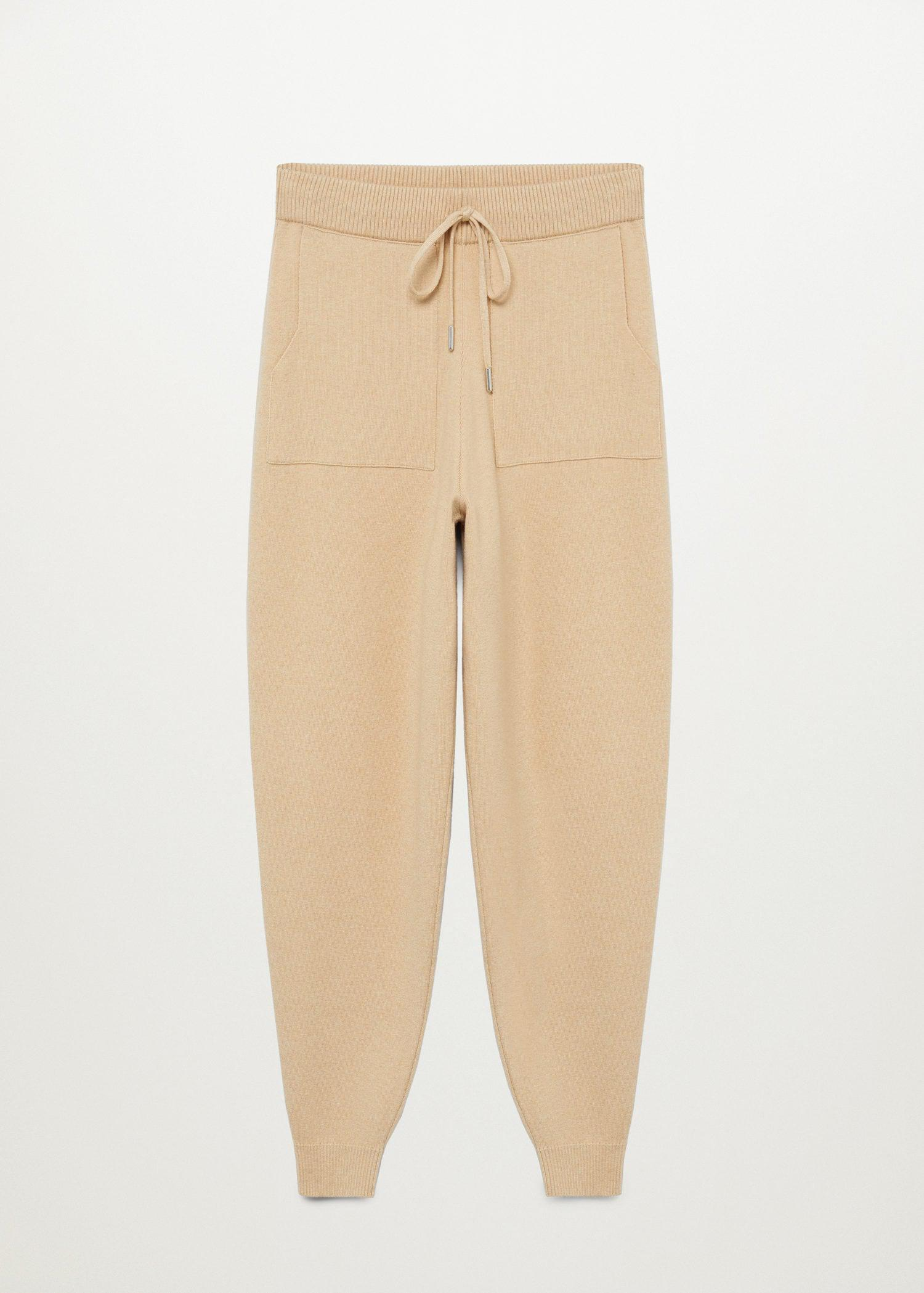 Knit jogger-style trousers 7