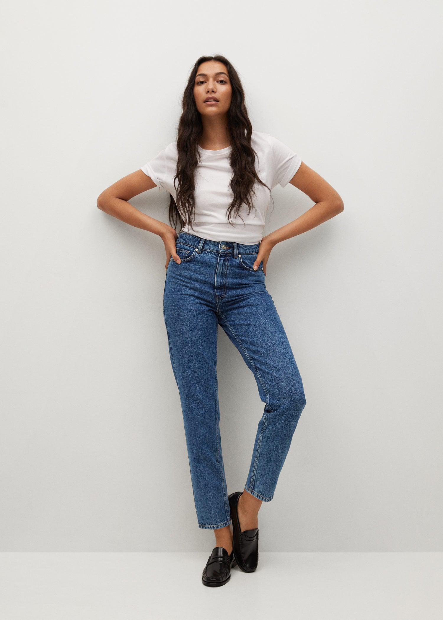 100% cotton mom-fit jeans 1