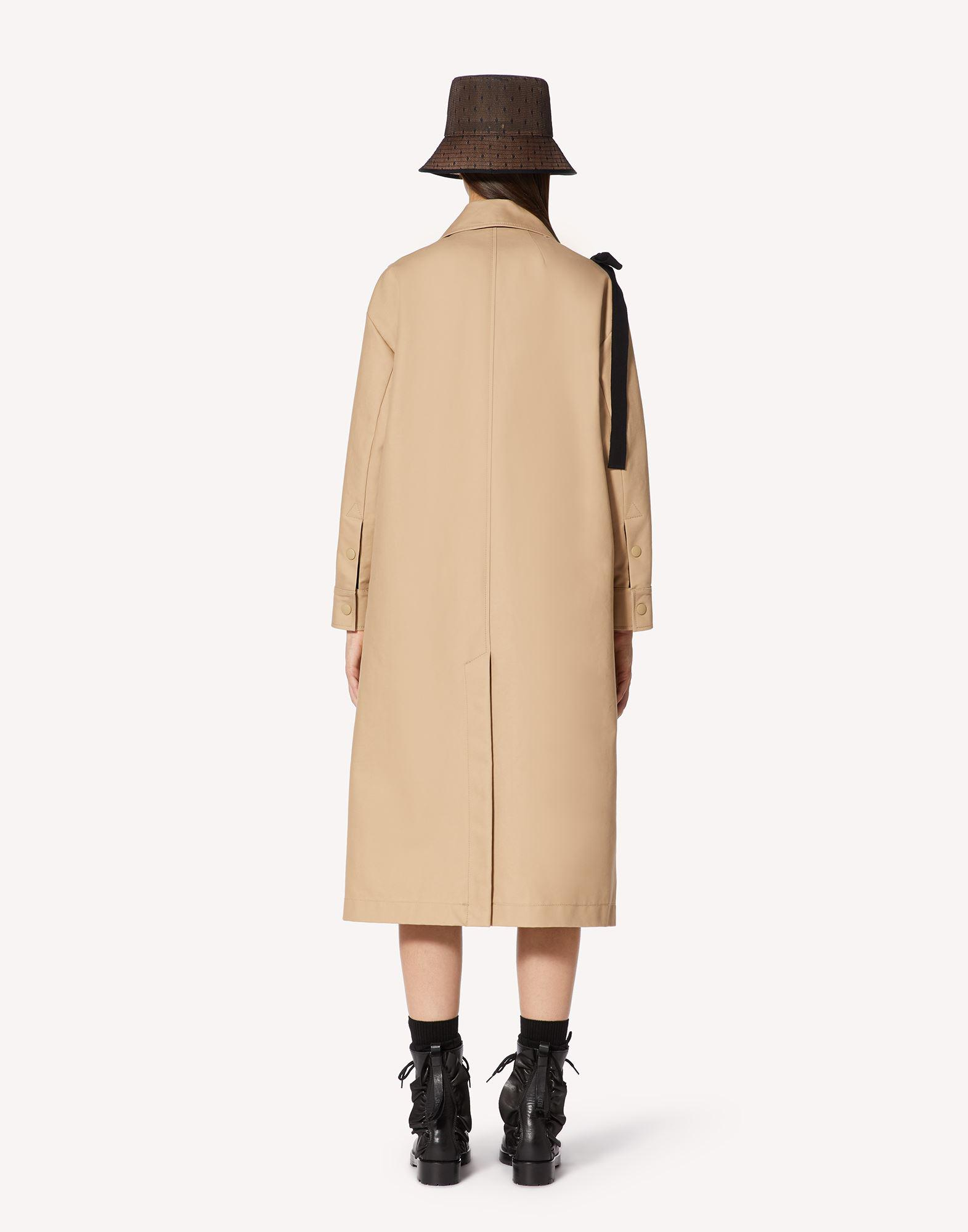 MAY LILY EMBROIDERED TRENCH COAT WITH BOW DETAIL 1