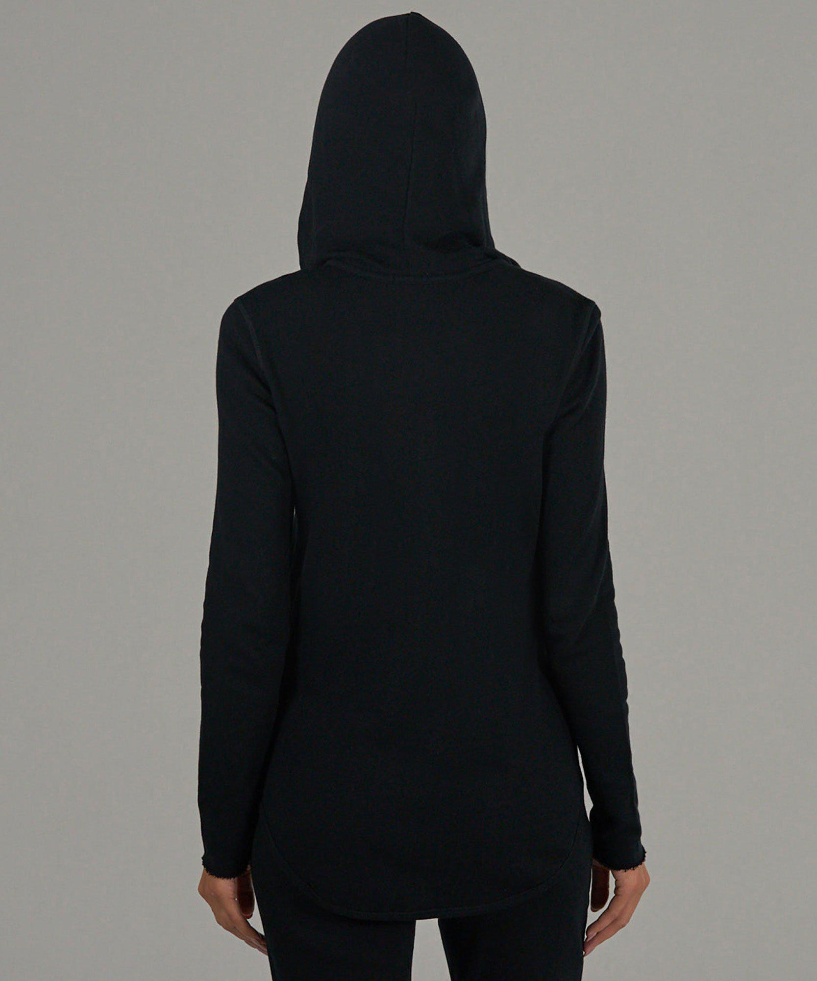 French Terry Zip-Up Hoodie - Black 2