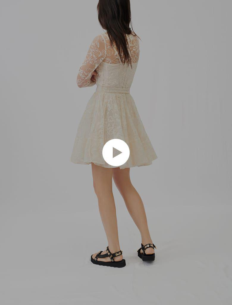 BELTED LACE DRESS 4