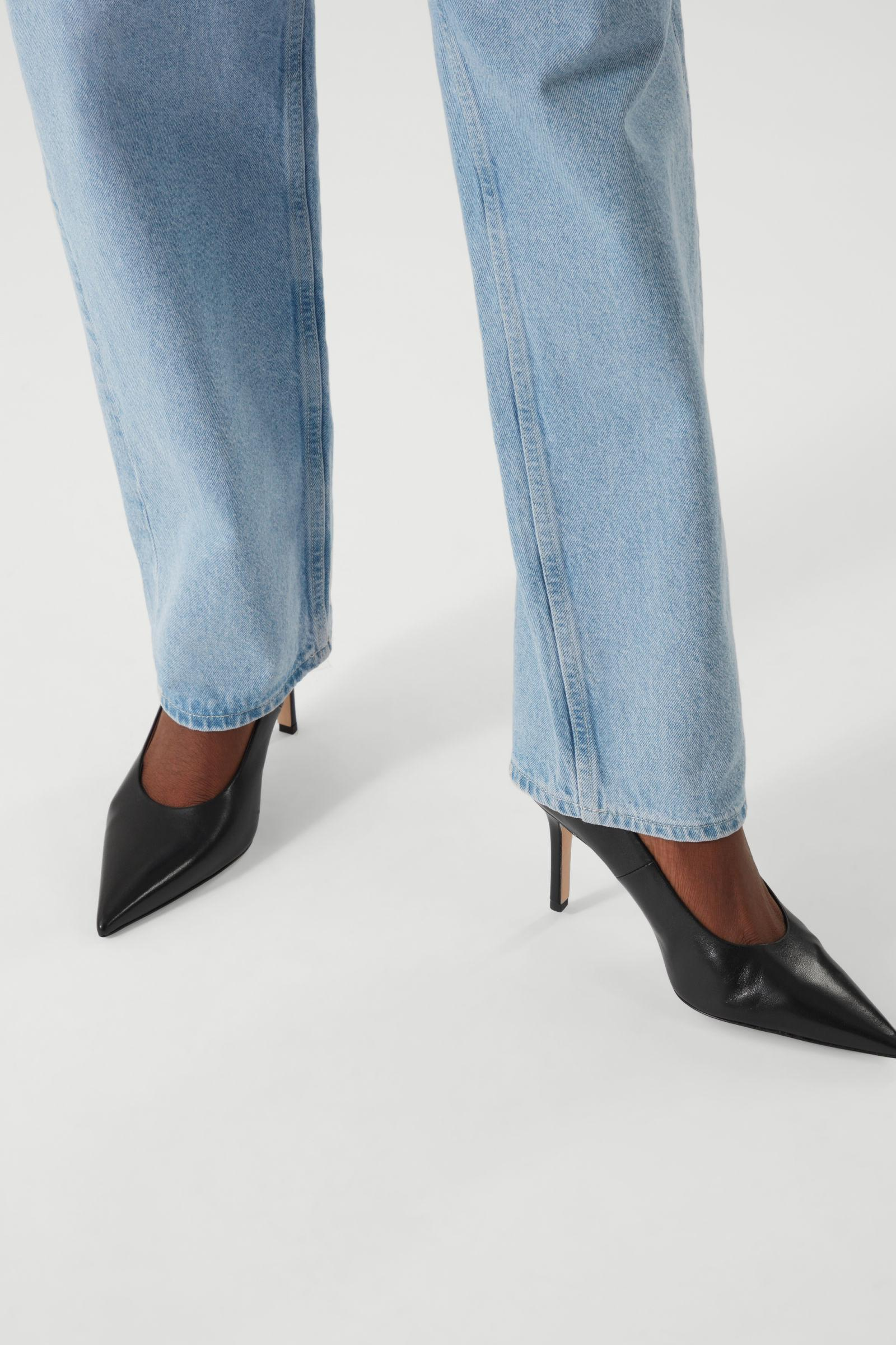 POINTED LEATHER HIGH HEELS 5