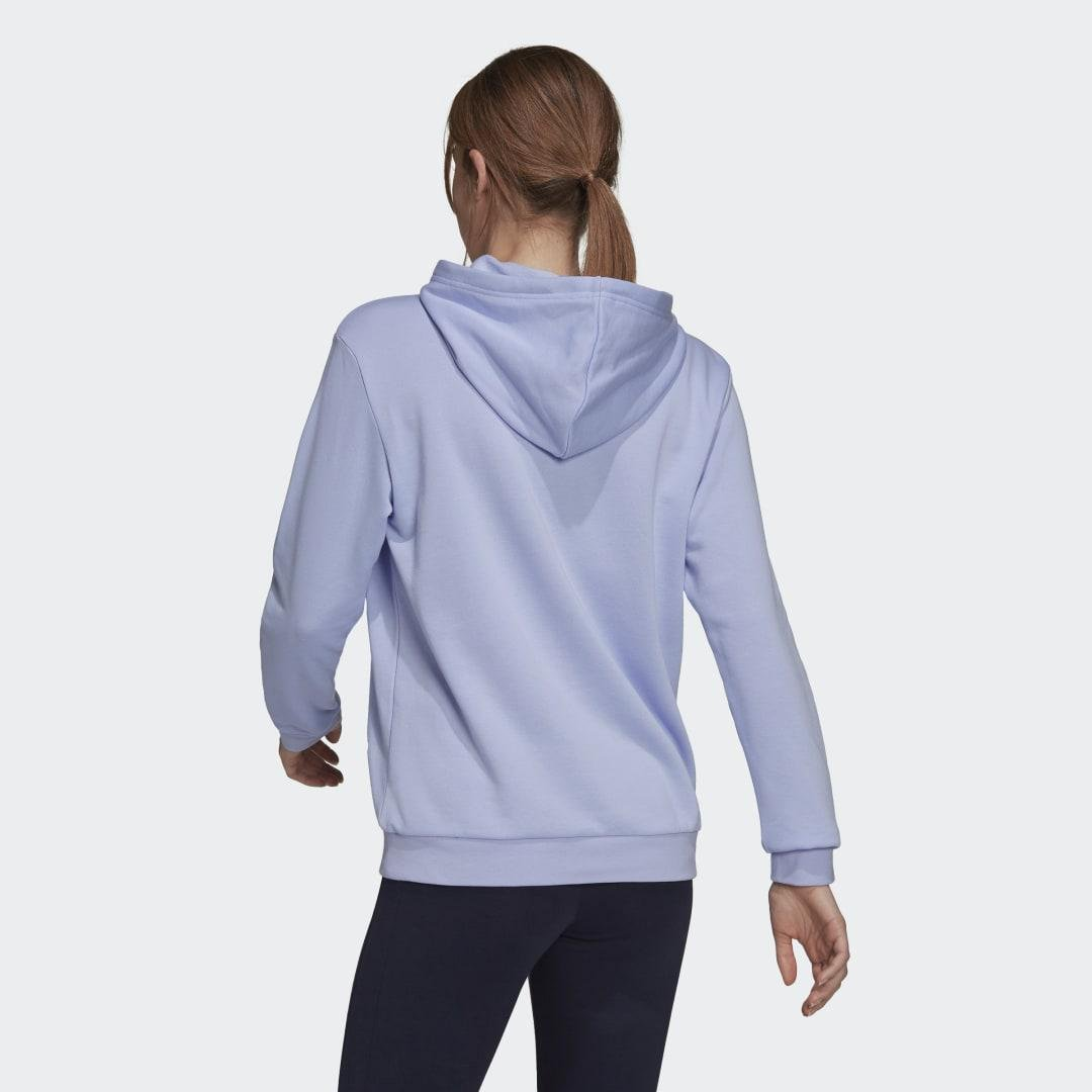 Brand Love Slanted Logo Relaxed Hoodie Violet Tone 1