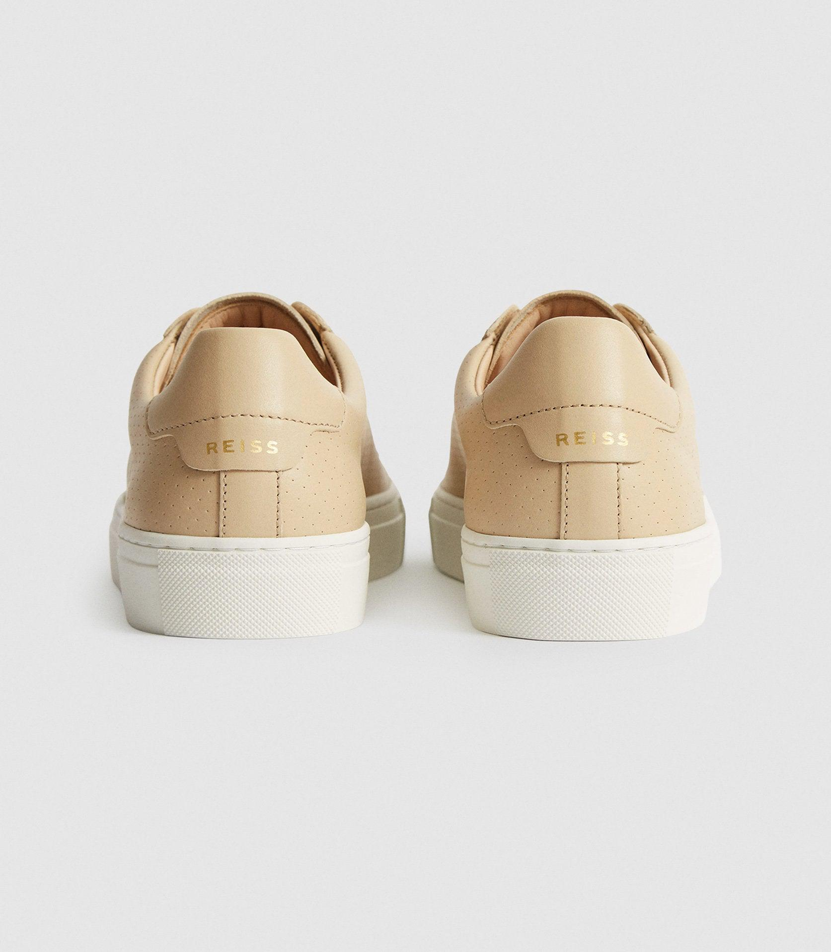 FINLEY - PERFORATED LEATHER TRAINERS 3