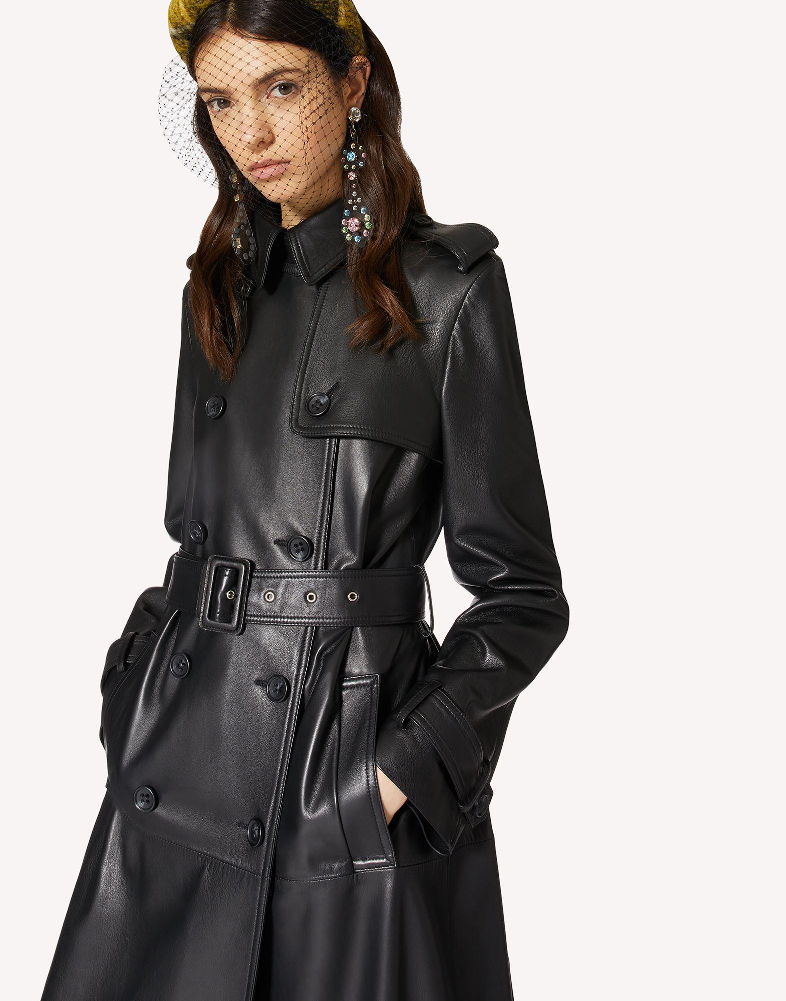 PLEATED LEATHER TRENCH COAT 3