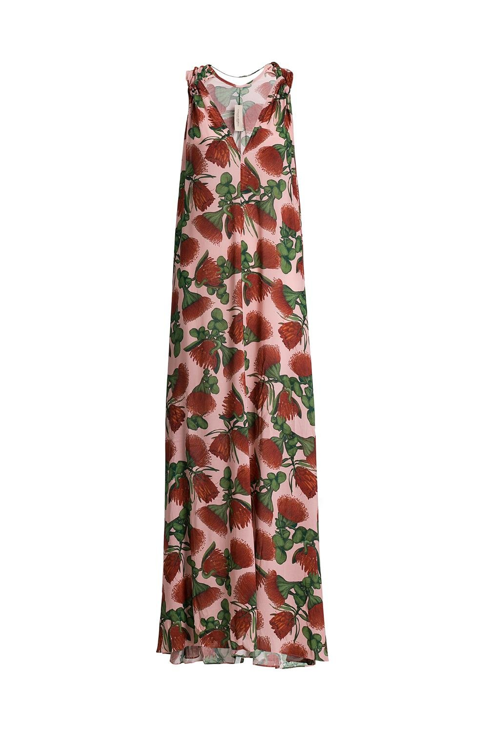 Fiore Long Dress with V Neck
