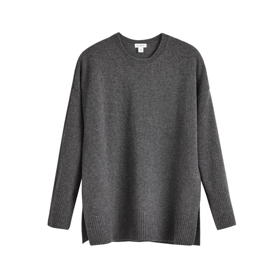 Women's Recycled Crewneck Sweater in Charcoal | Size: