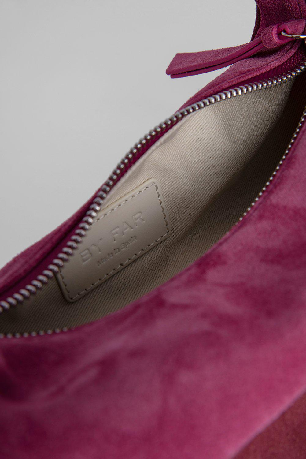 Bougie Fuchsia and Dark Brown Suede Leather 6