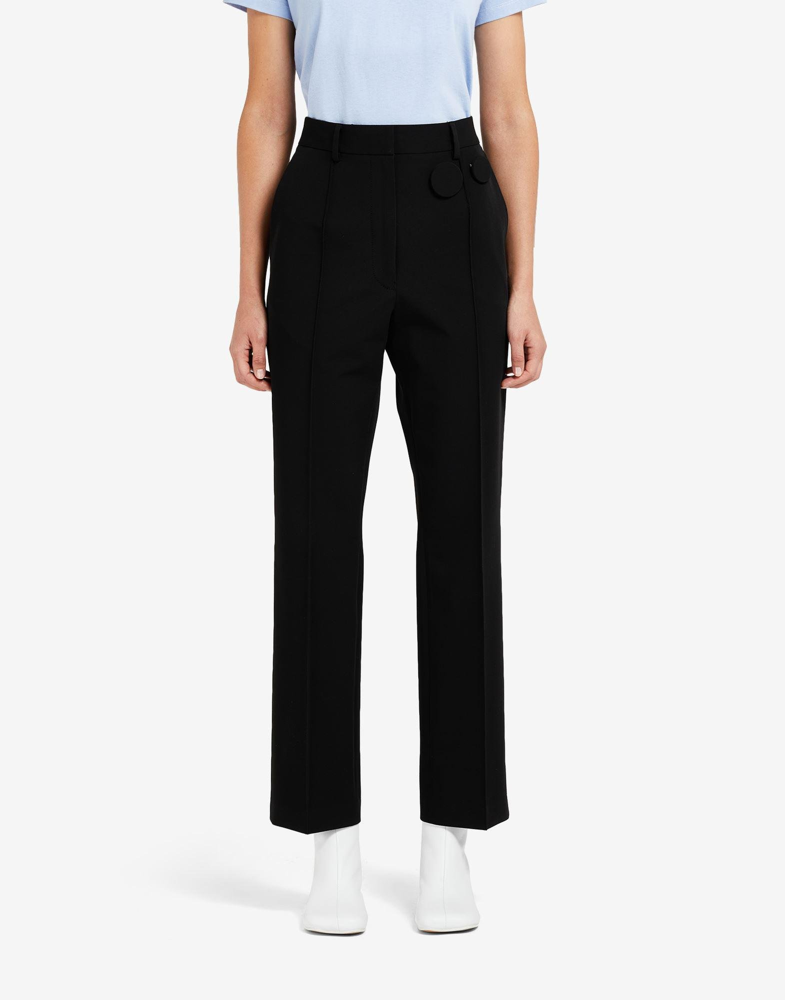 Badge pleated trousers 3