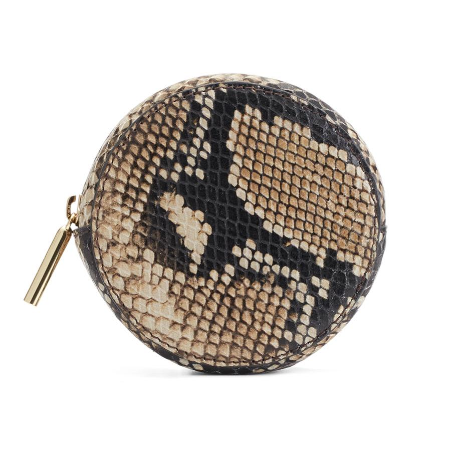 Women's Circle Pouch Add-On in Natural Snake | Snake-Embossed by Cuyana