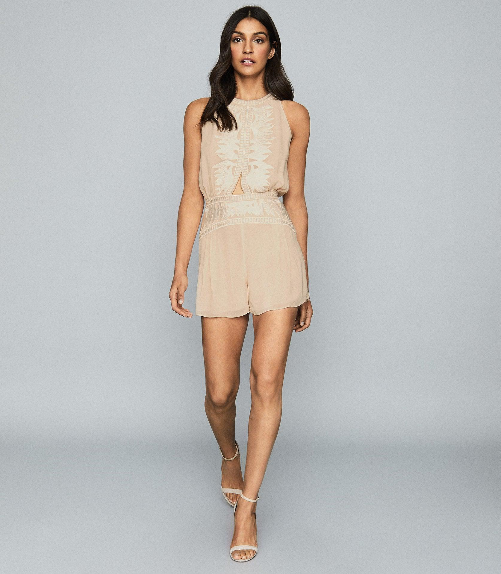 COCO - EMBROIDERED RESORTWEAR PLAYSUIT