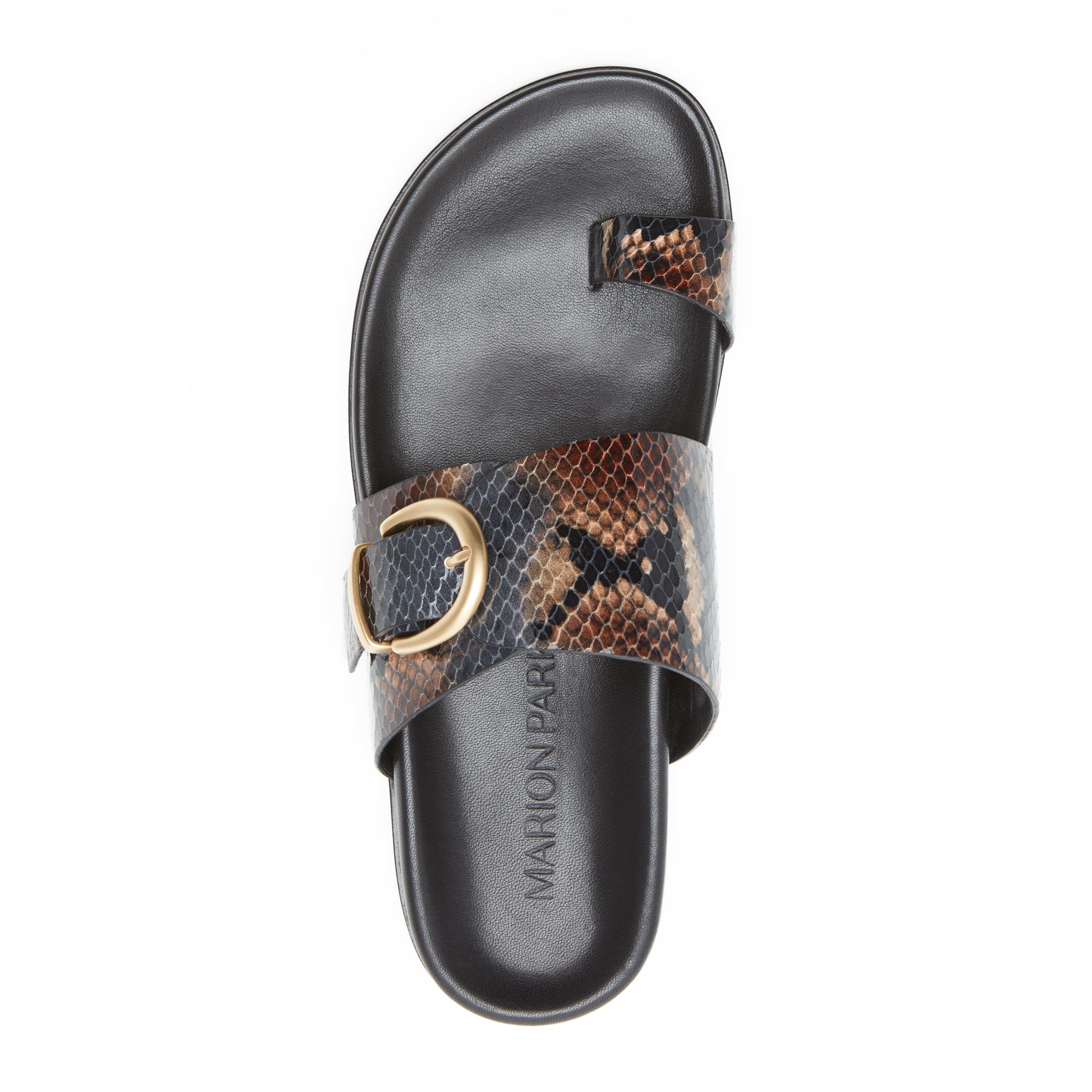 Cyrus   Leather Slide Sandal with Contoured Footbed 2
