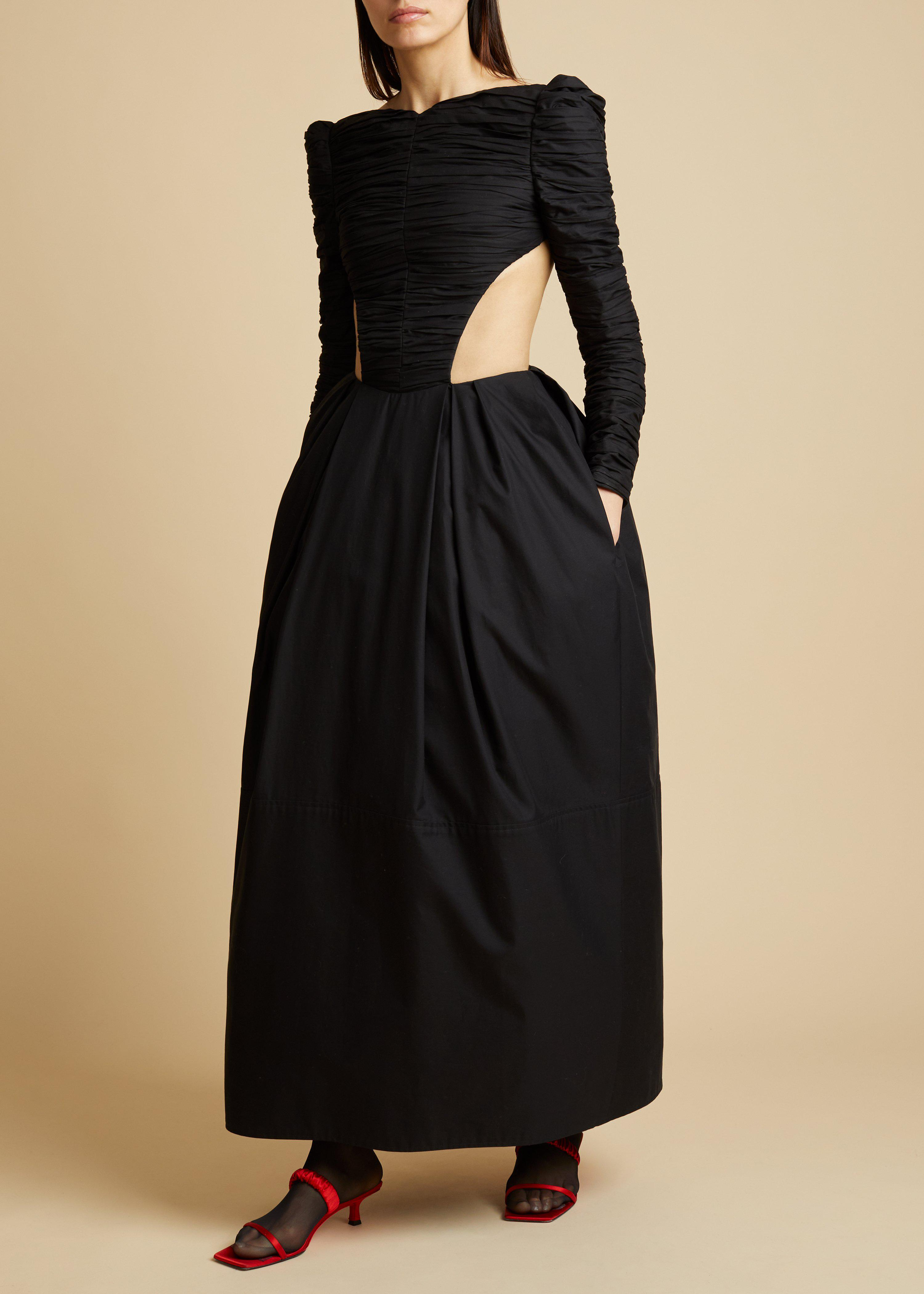 The Rosaline Dress with Petticoat in Black