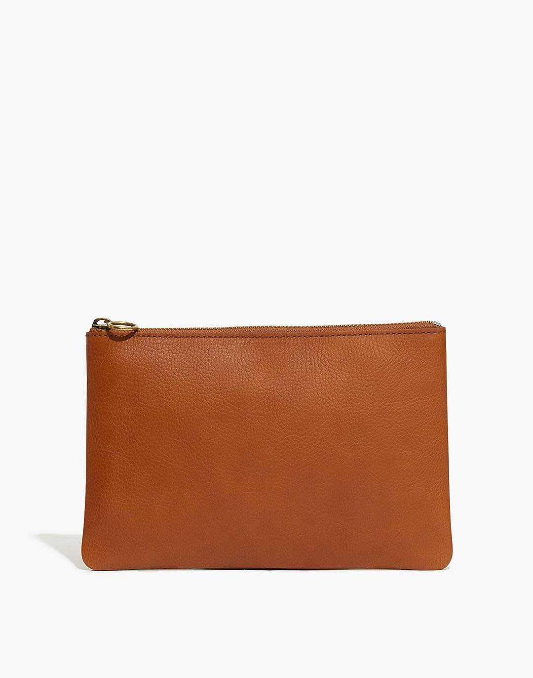 The Leather Pouch Clutch: Mama Monogrammed Edition