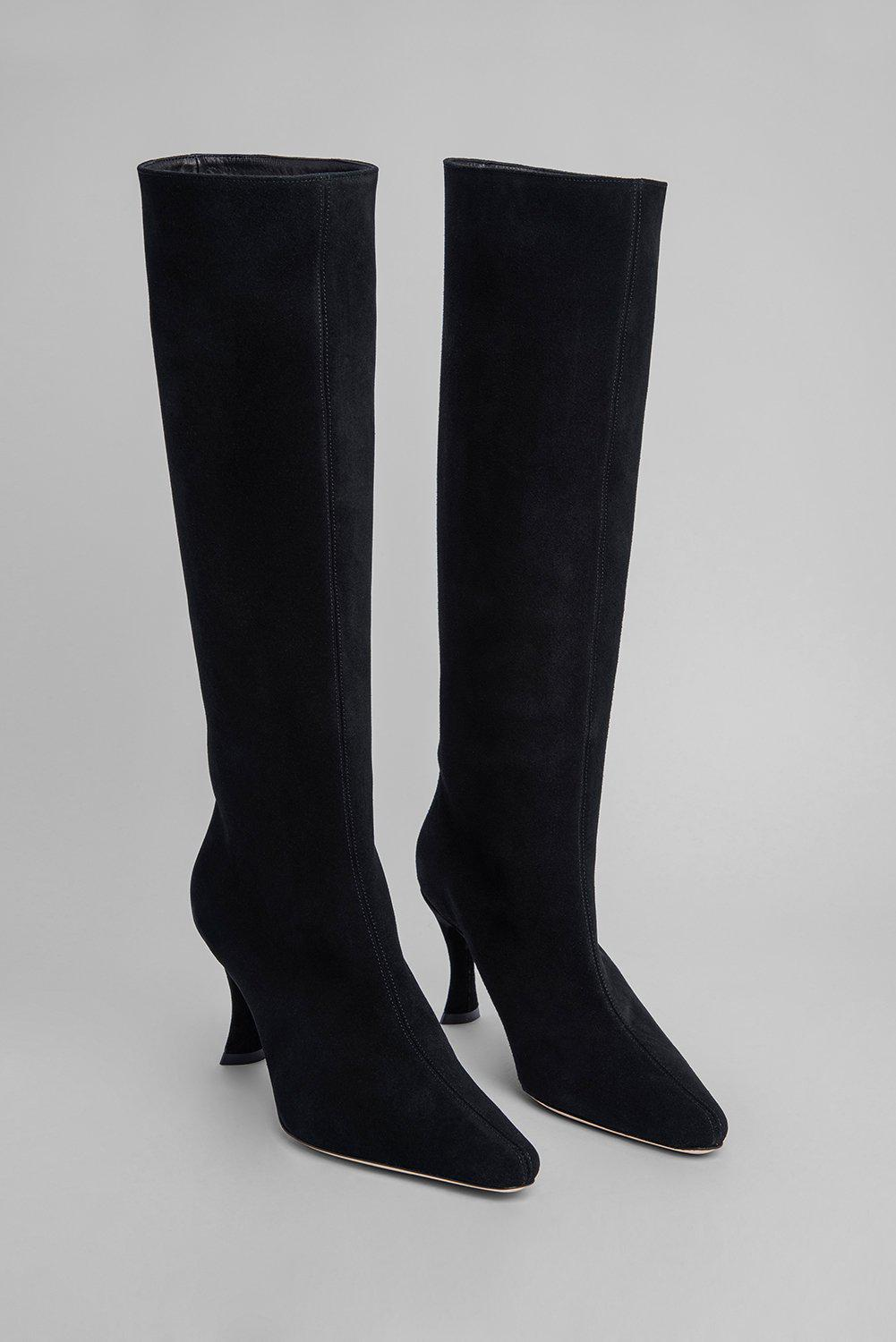 Stevie 42 Black Suede Leather 1