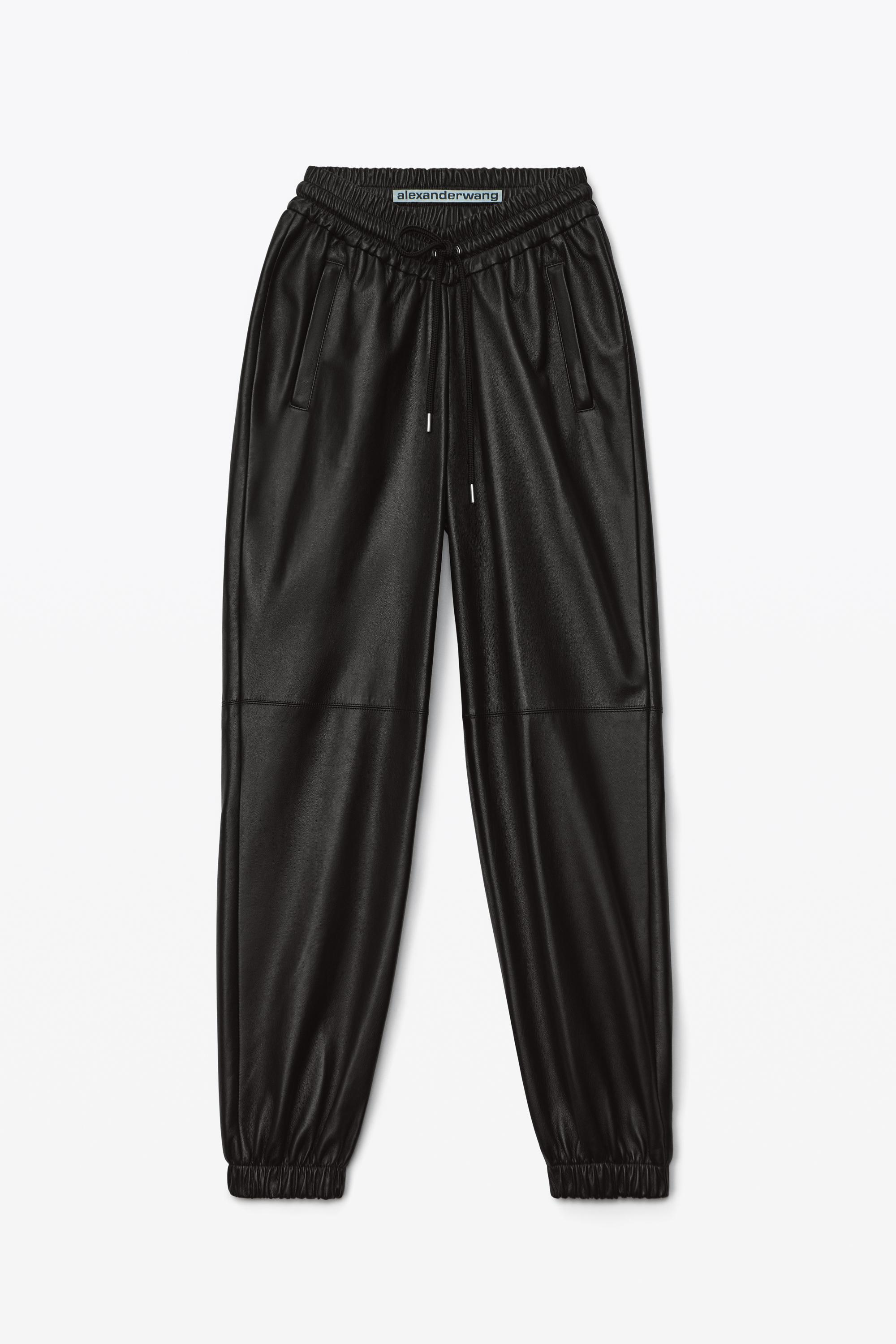 dipped leather jogger 1