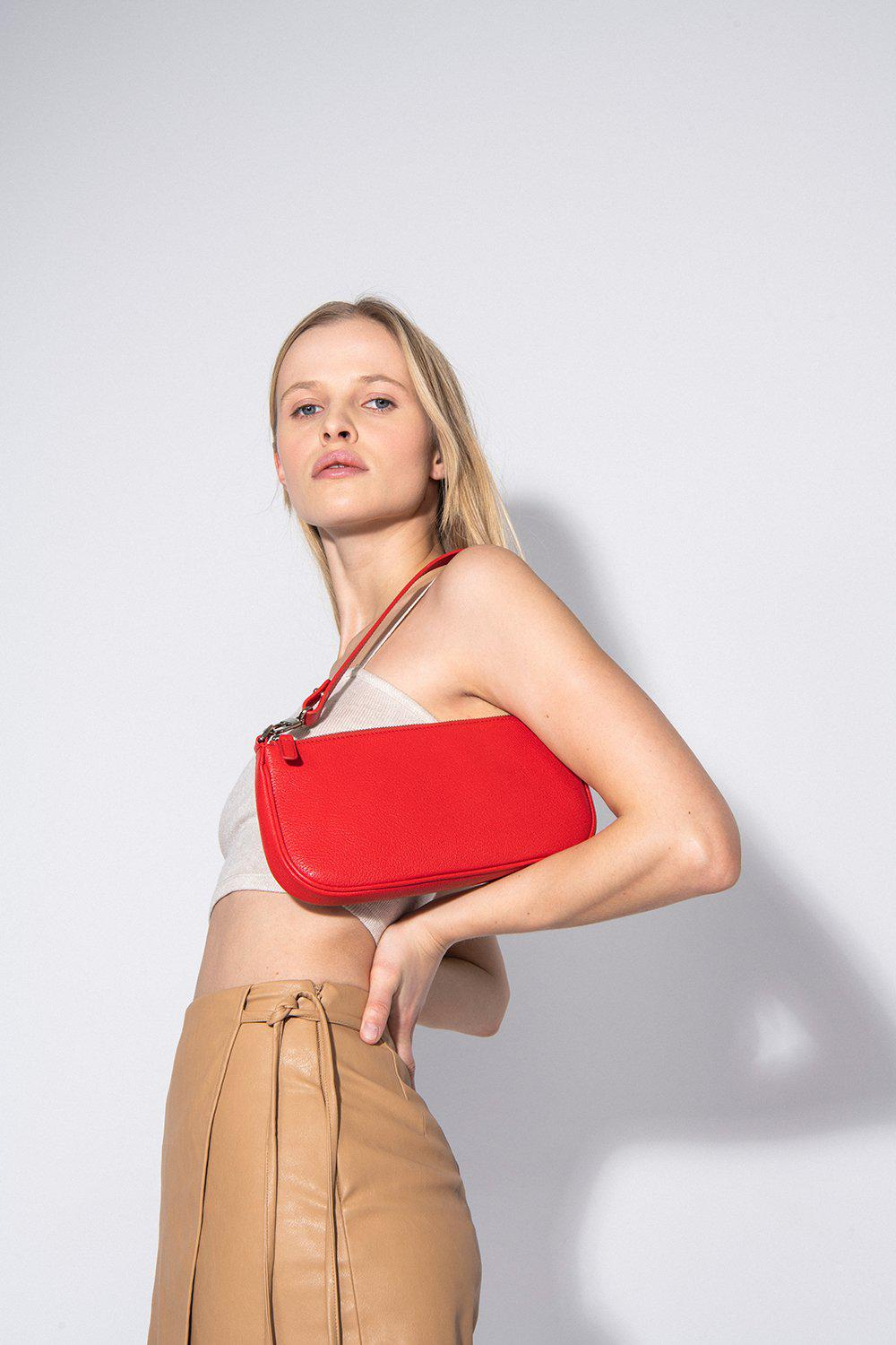 Rachel Red Grained Leather 3