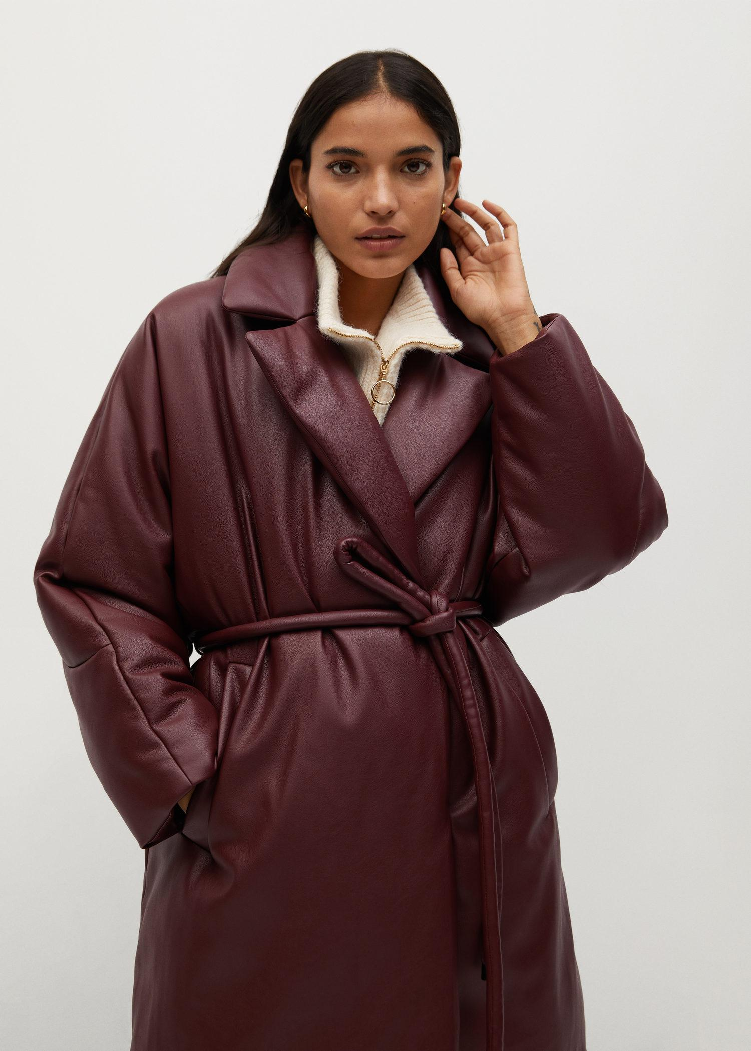 Oversize quilted coat