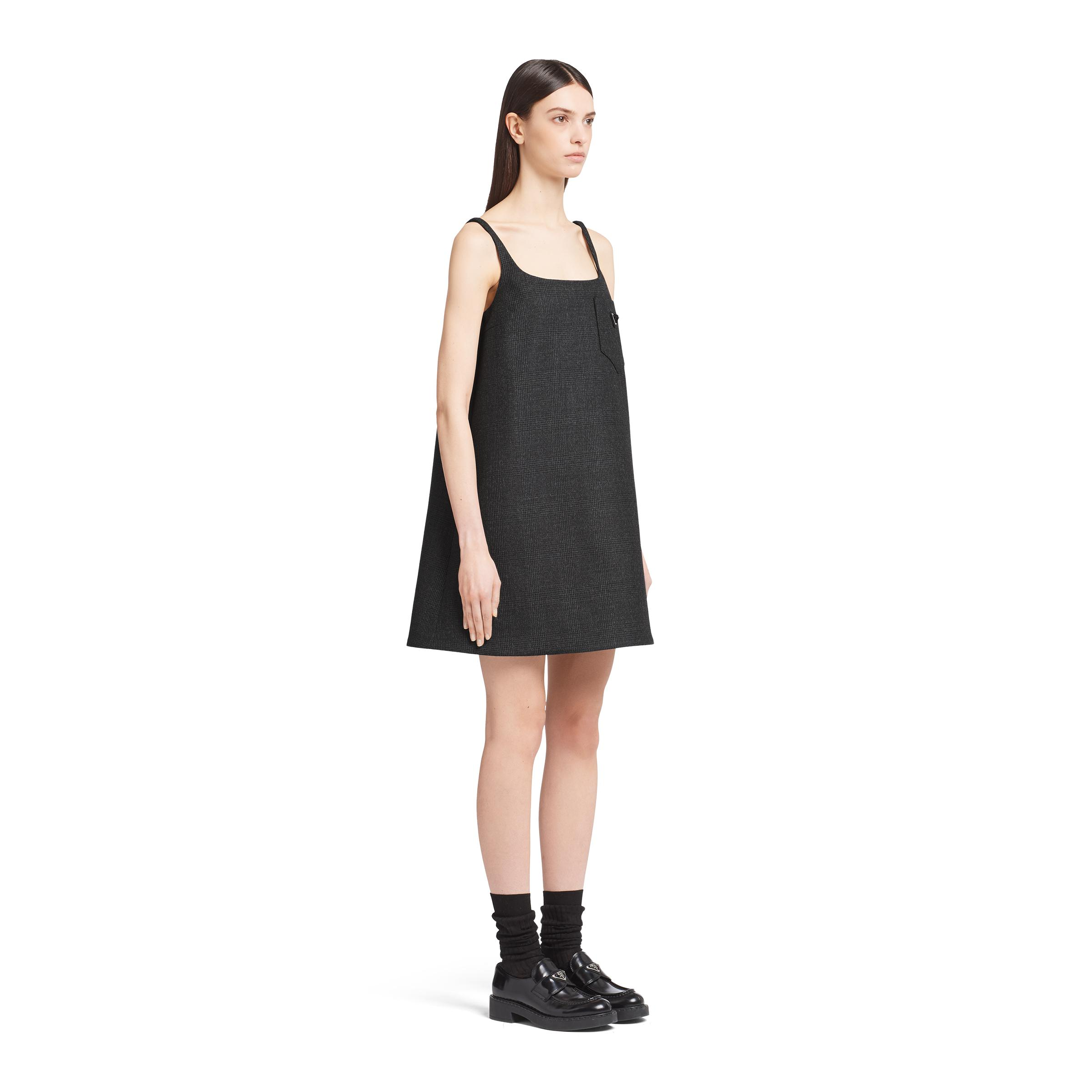 Prince Of Wales Checked Dress Women Black 2
