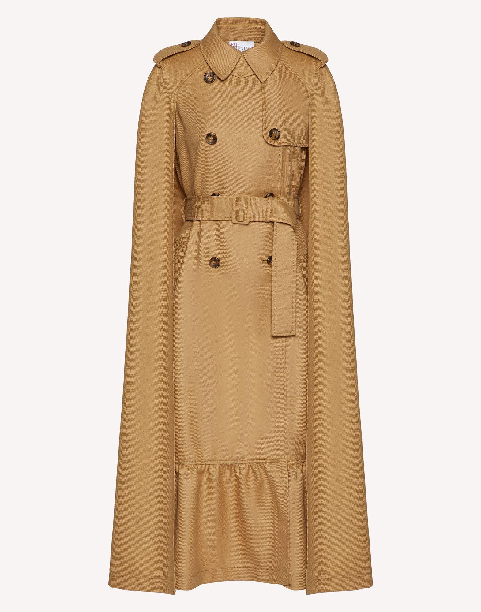 COMPACT WOOL TRENCH-LIKE CAPE 4