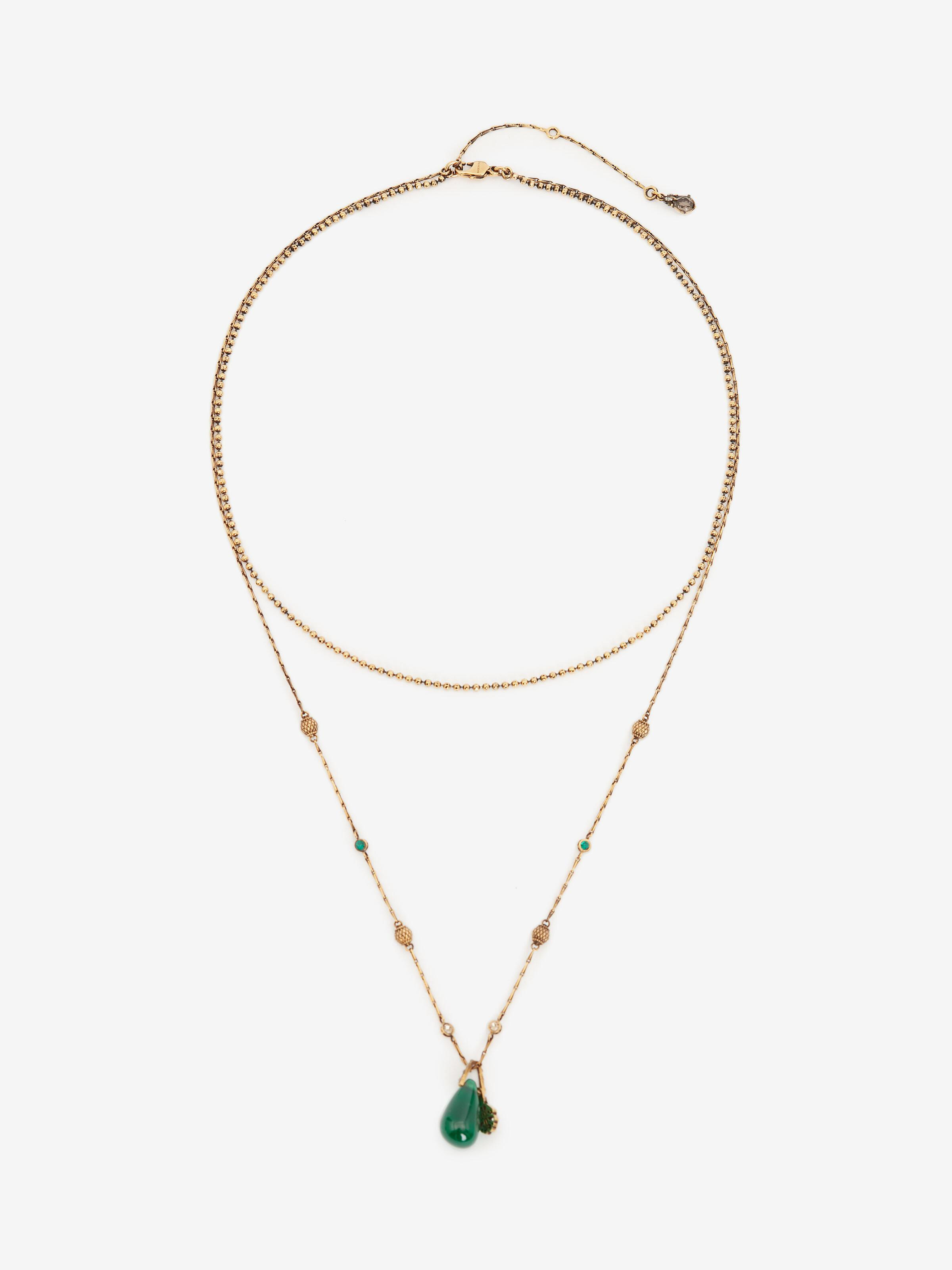 Seal Signature Double Layer Necklace