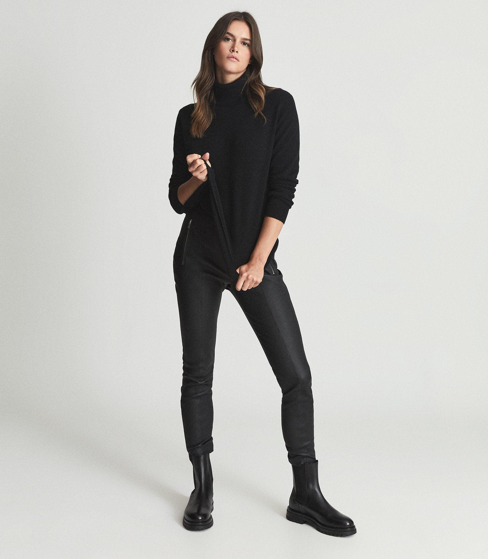 LARA - SKINNY-FIT LEATHER TROUSERS