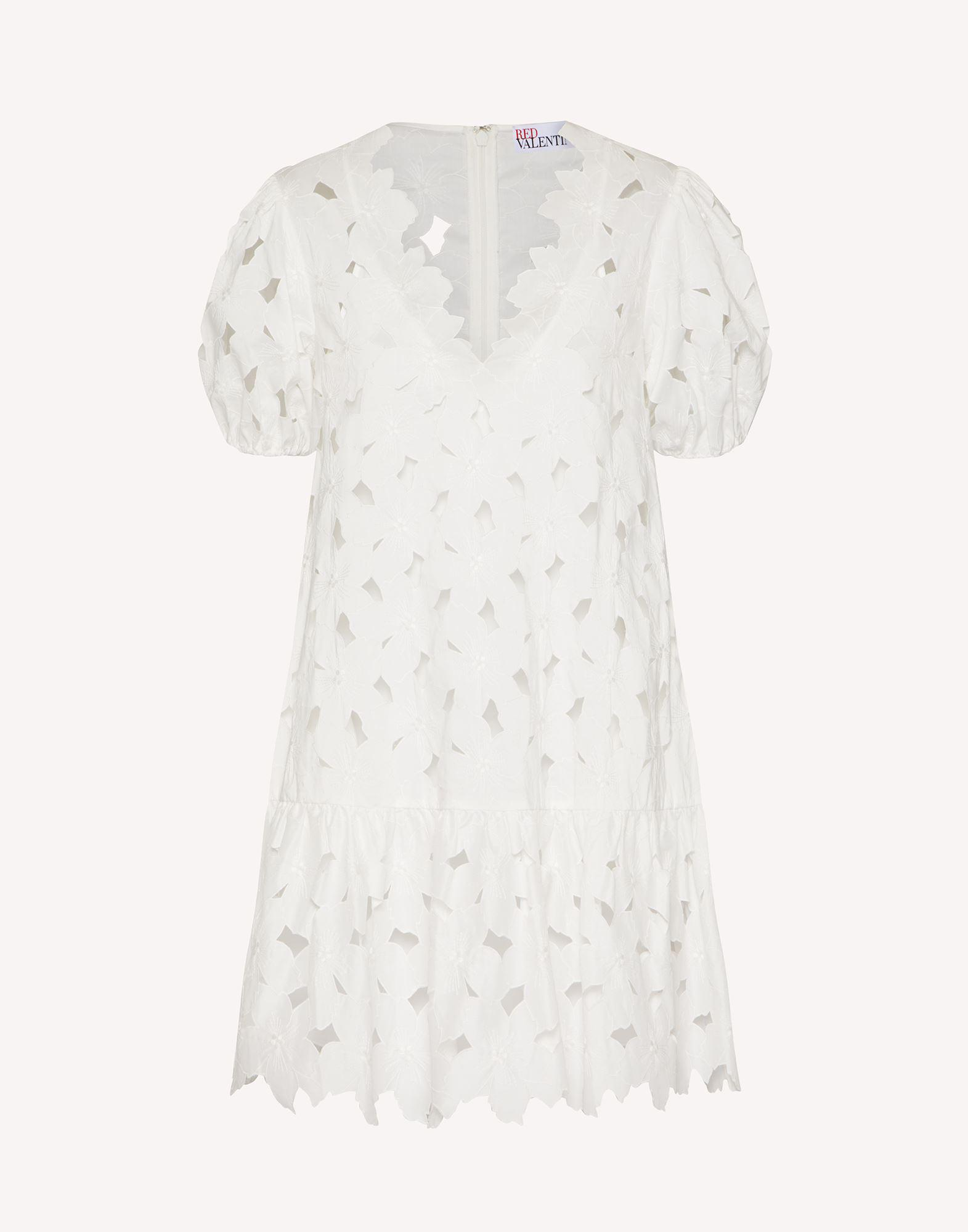 COTTON POPLIN DRESS WITH CUT-OUT EMBROIDERY 4