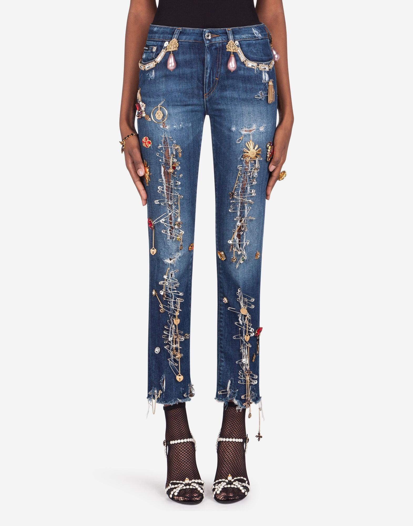 Pretty fit jeans with decoration